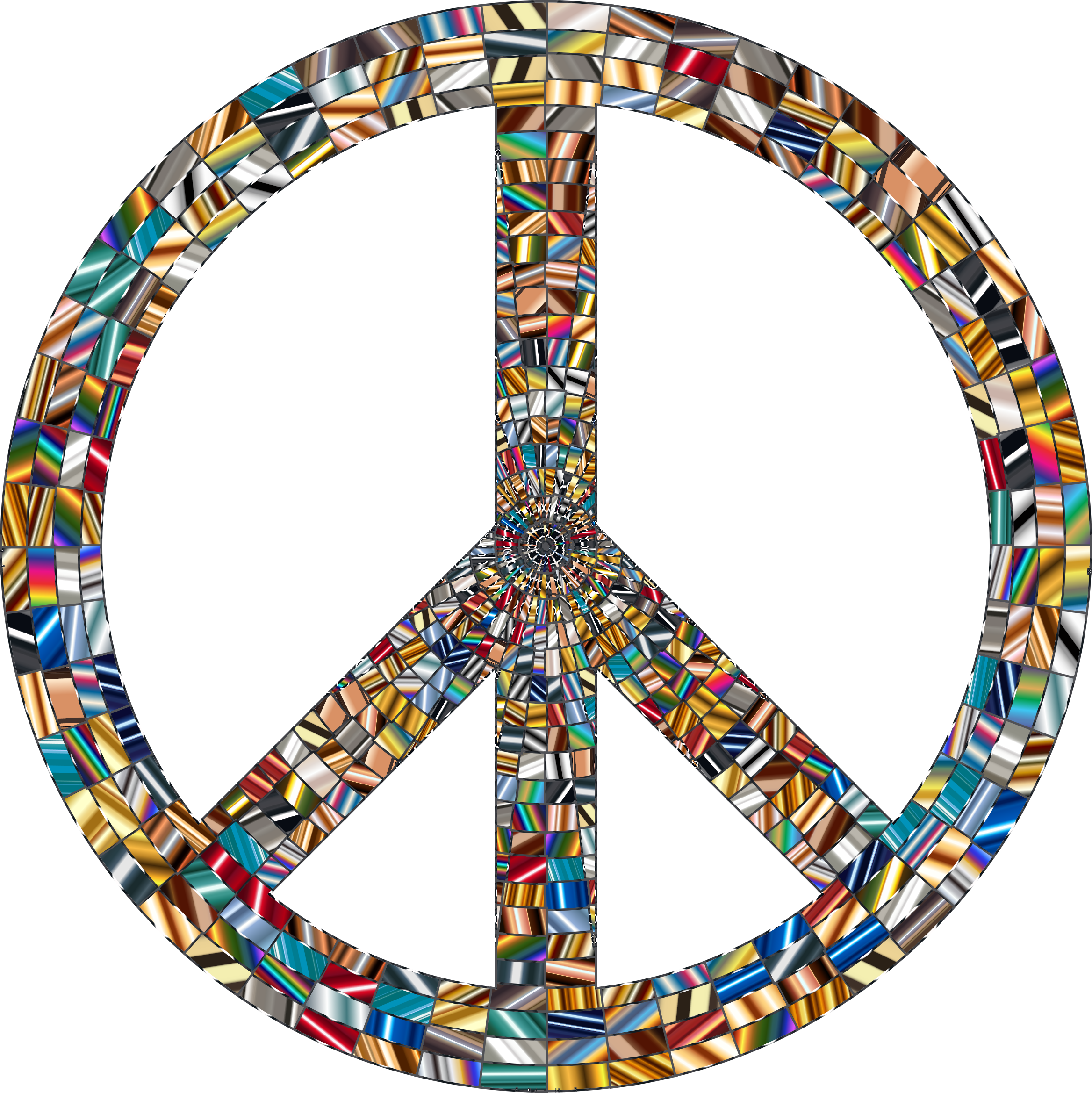 Prismatic Peace Sign 16 No Background by GDJ
