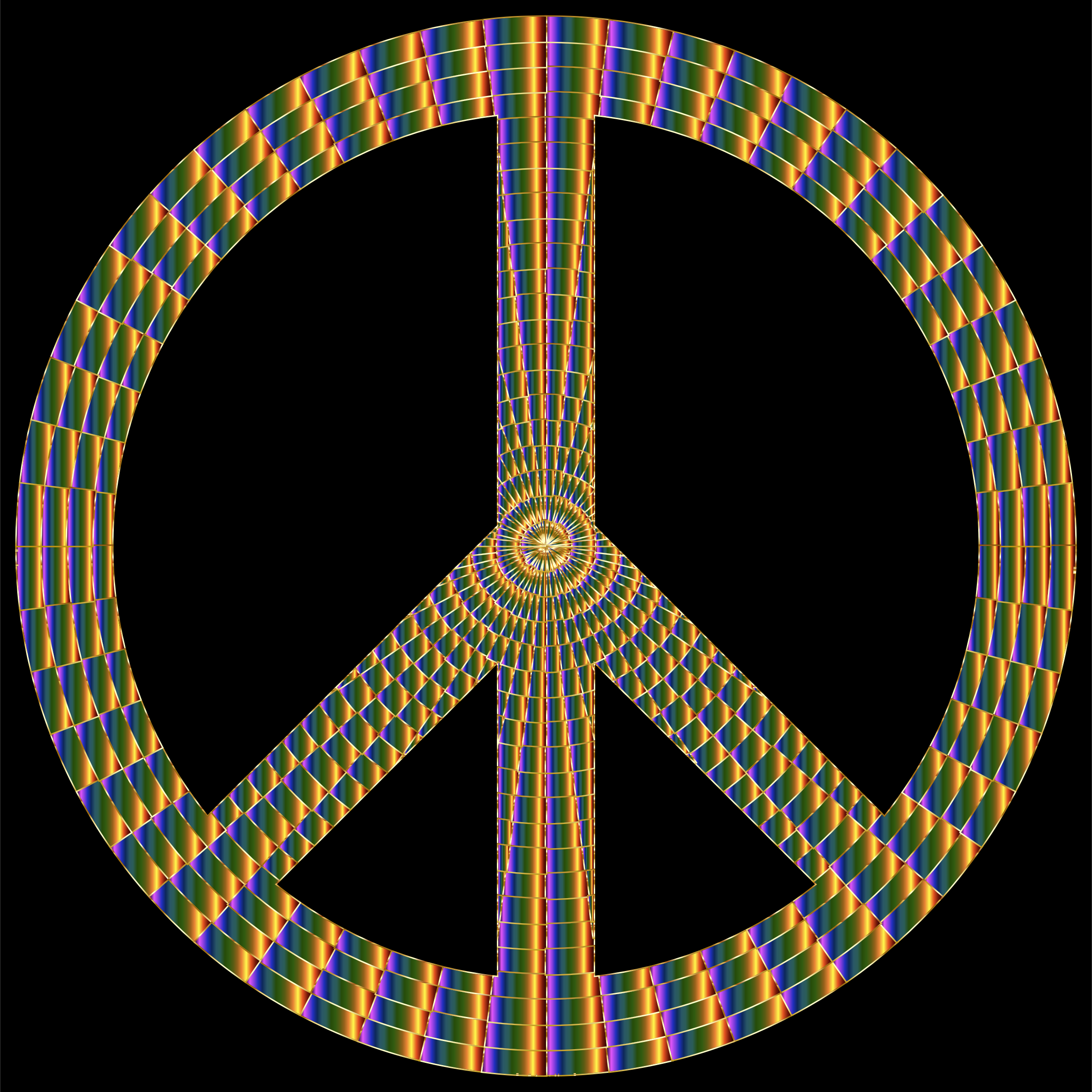 Prismatic Peace Sign 17 by GDJ