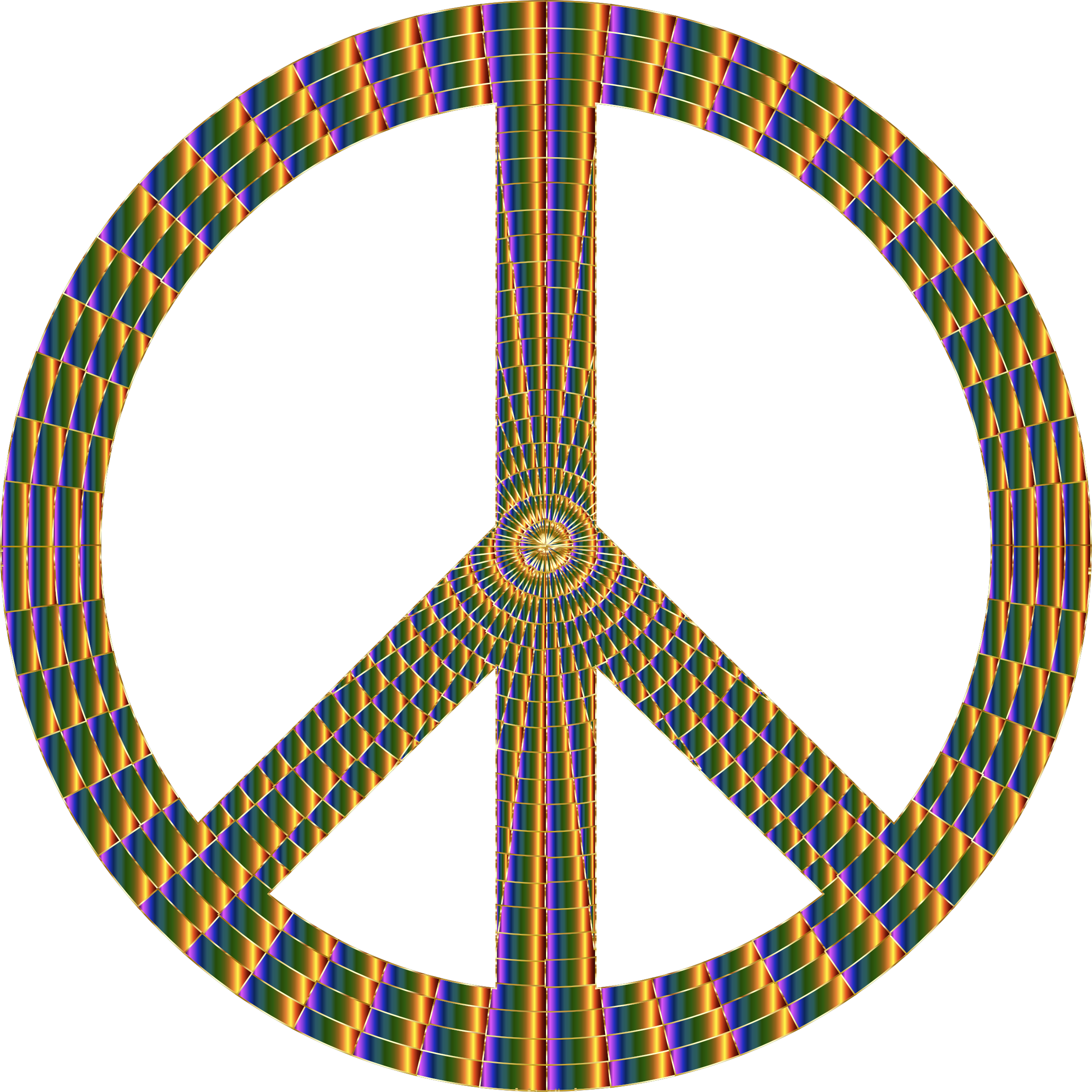 Prismatic Peace Sign 17 No Background by GDJ