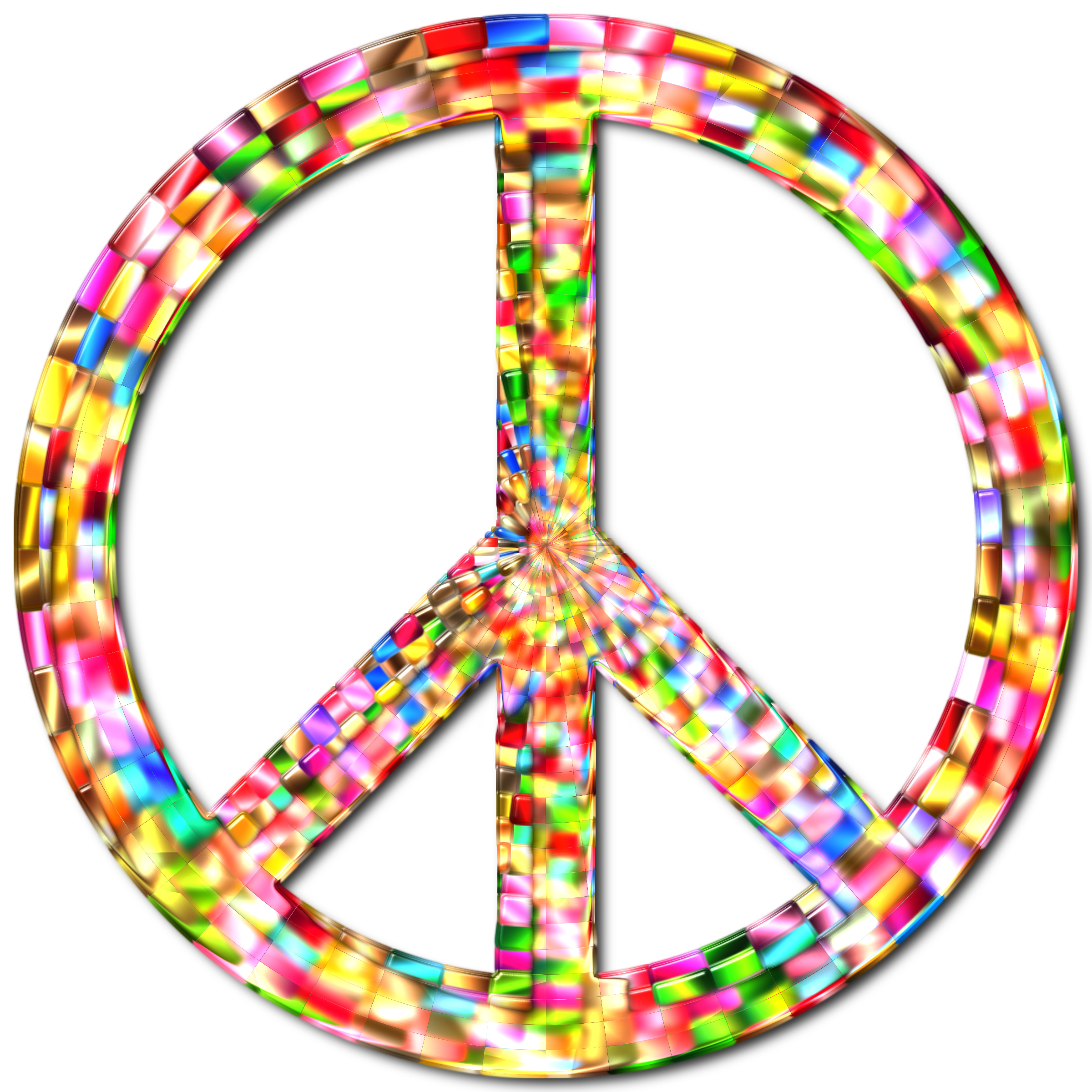 Prismatic Peace Sign 5 Enhanced by GDJ