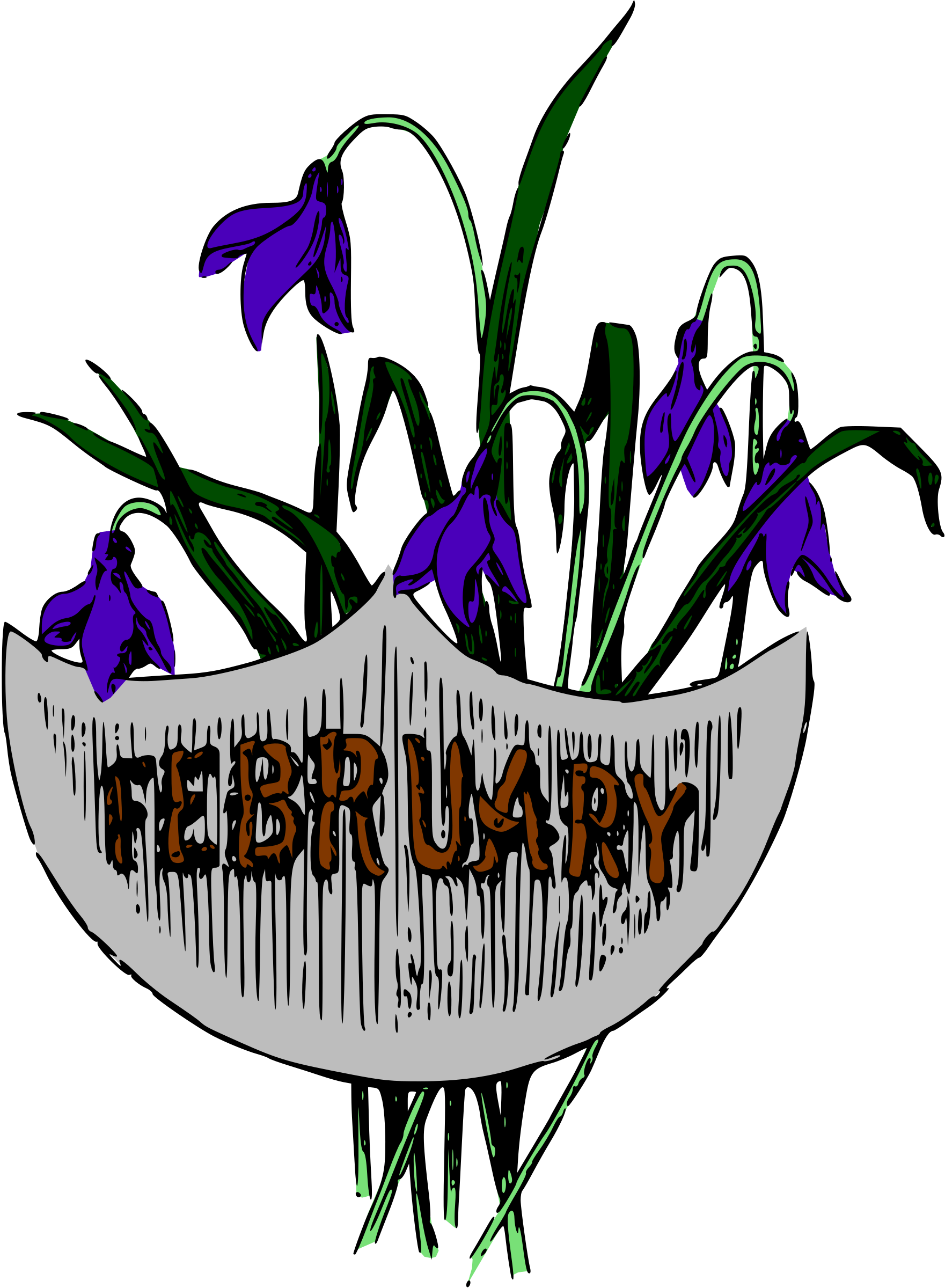 Illustrated months (February, colour) by Firkin