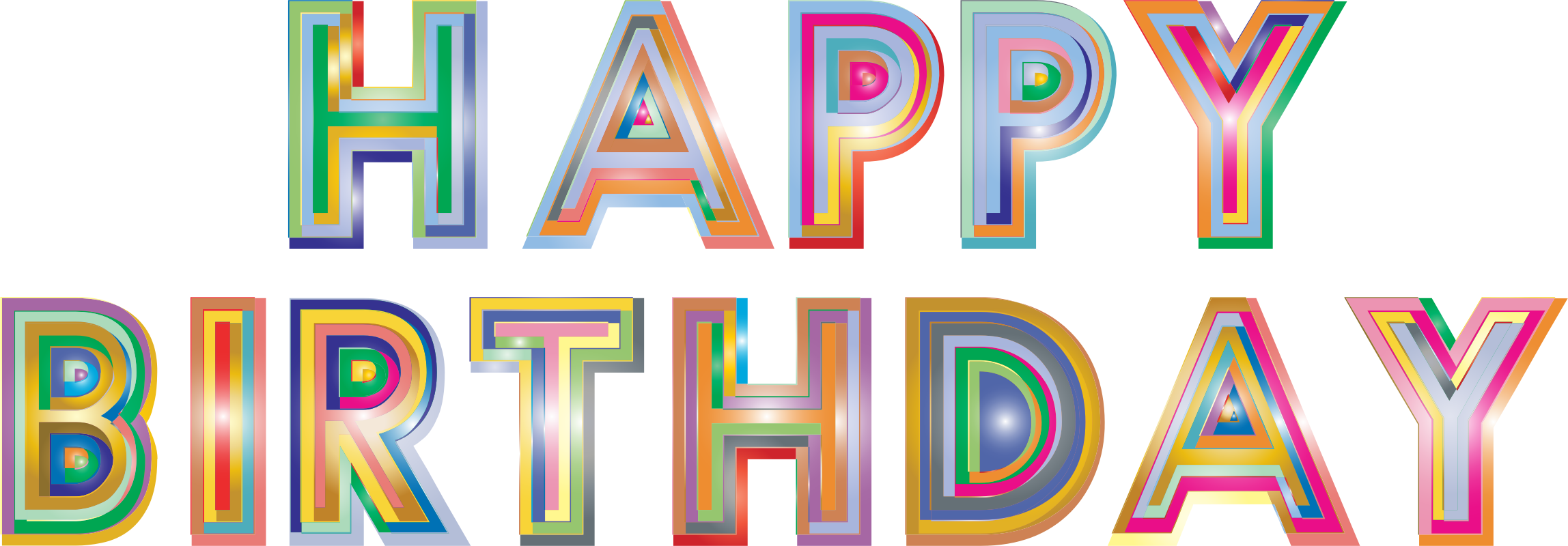 Happy Birthday Typography 2 by GDJ