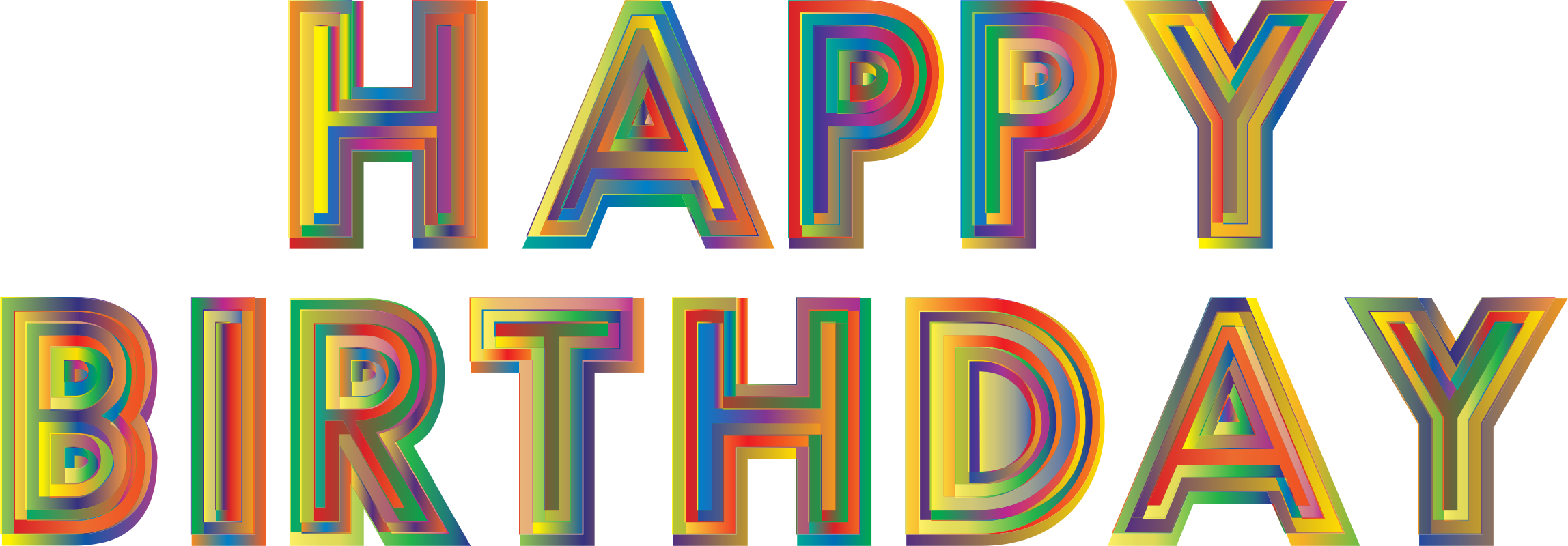 Happy Birthday Typography 3 by GDJ