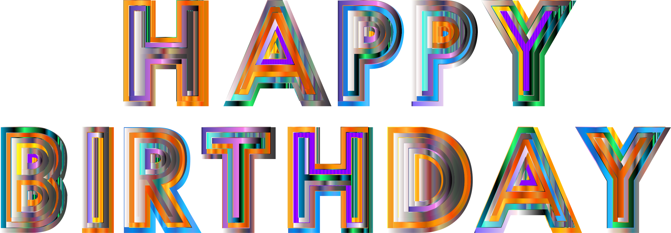 Happy Birthday Typography 4 by GDJ