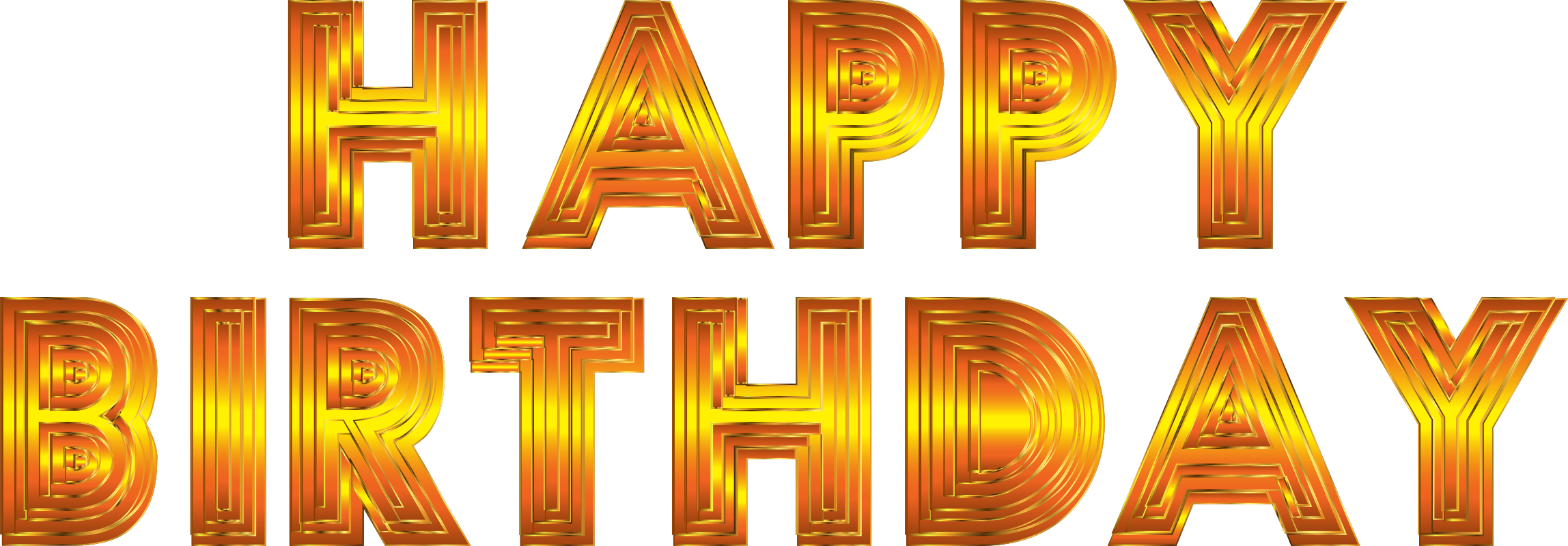 Clipart - Happy Birthday Typography 10