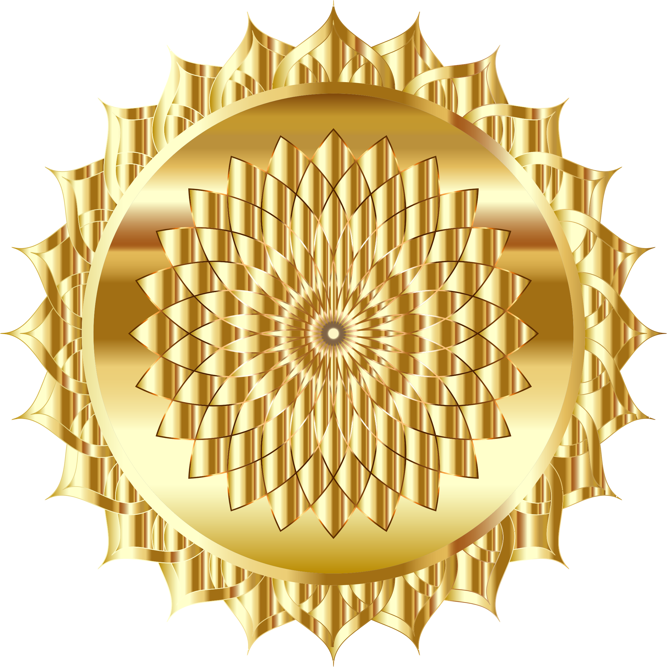 Golden Mandala Line Art by GDJ