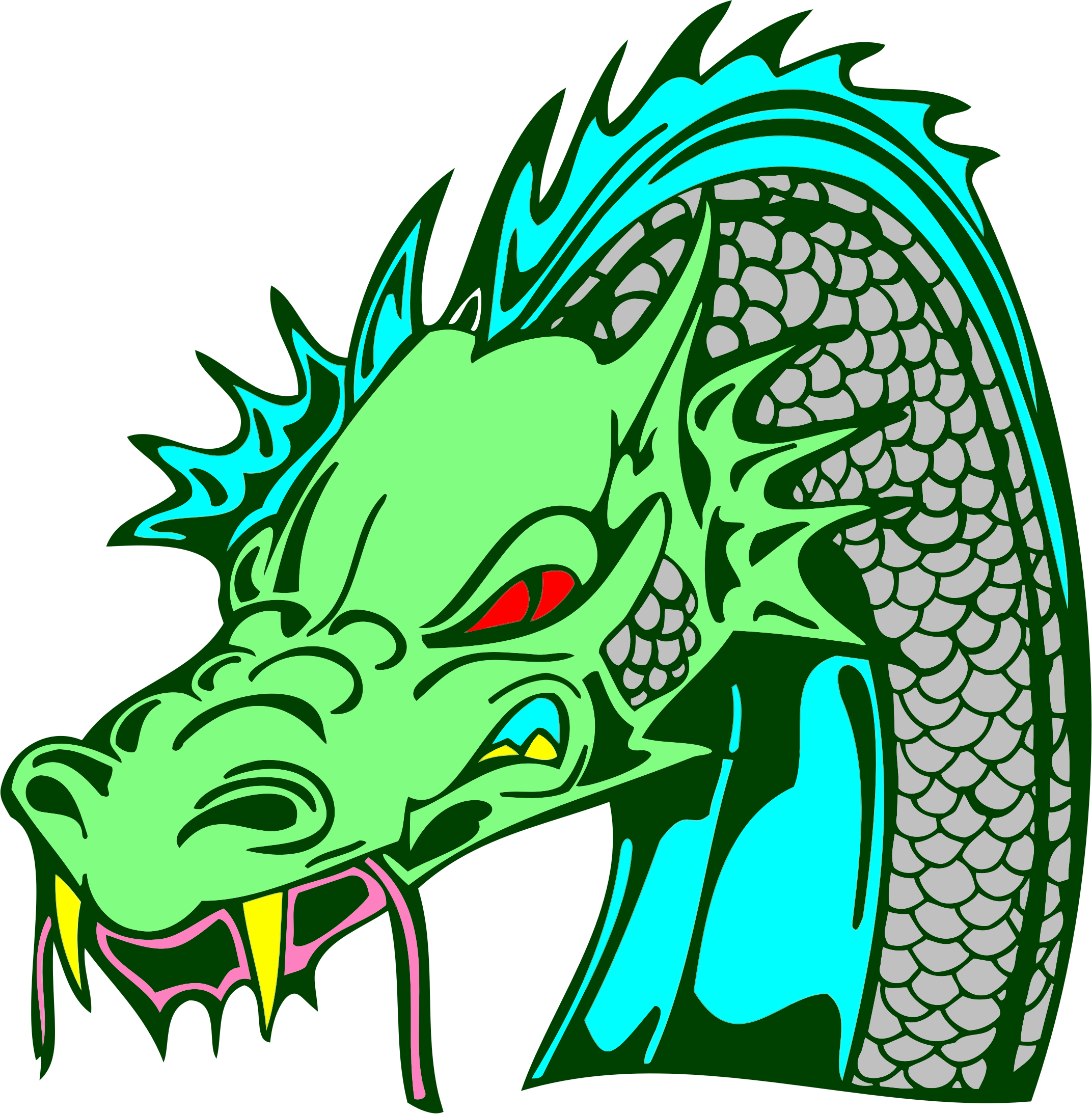 Angry Green Dragon by GDJ