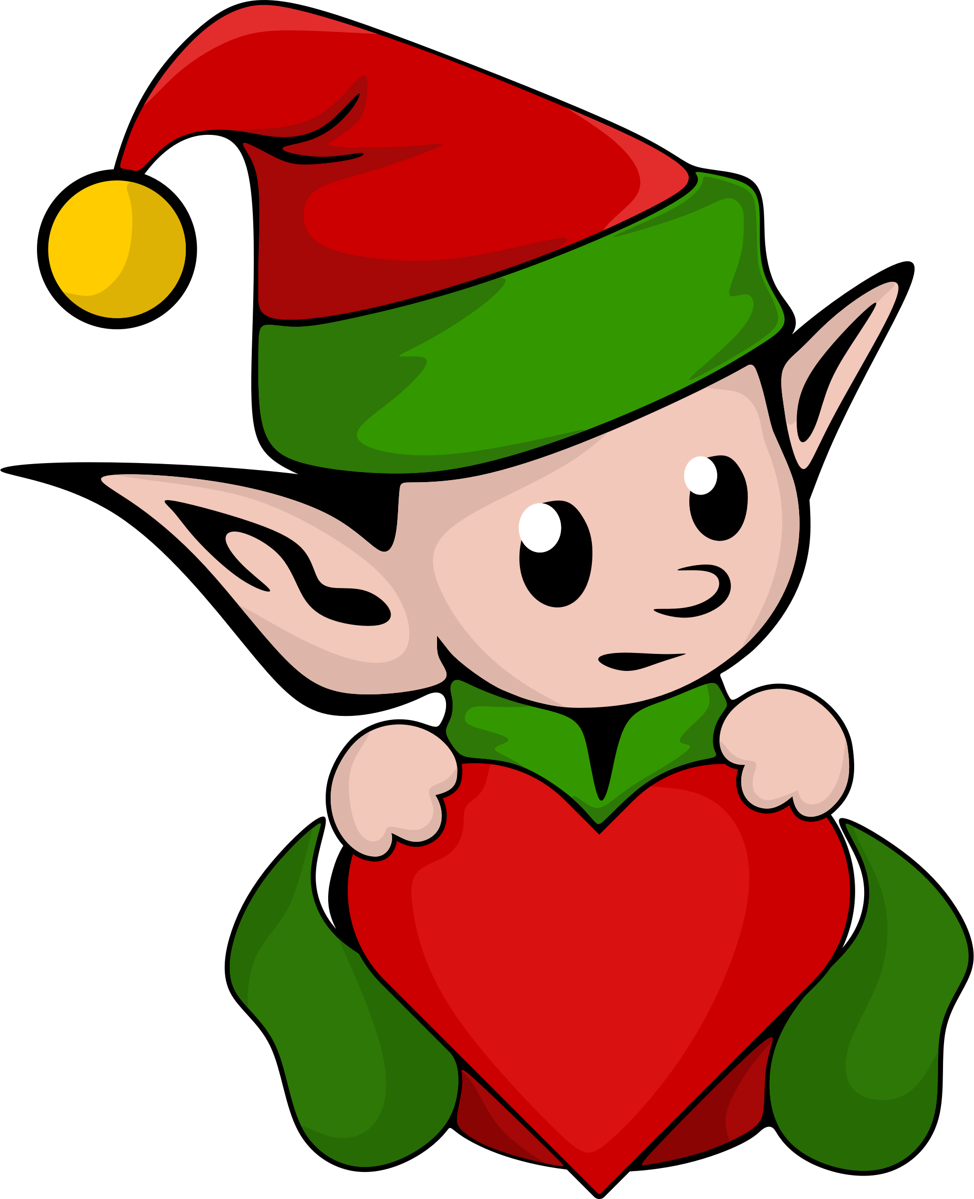 christmas elf printable coloring pages