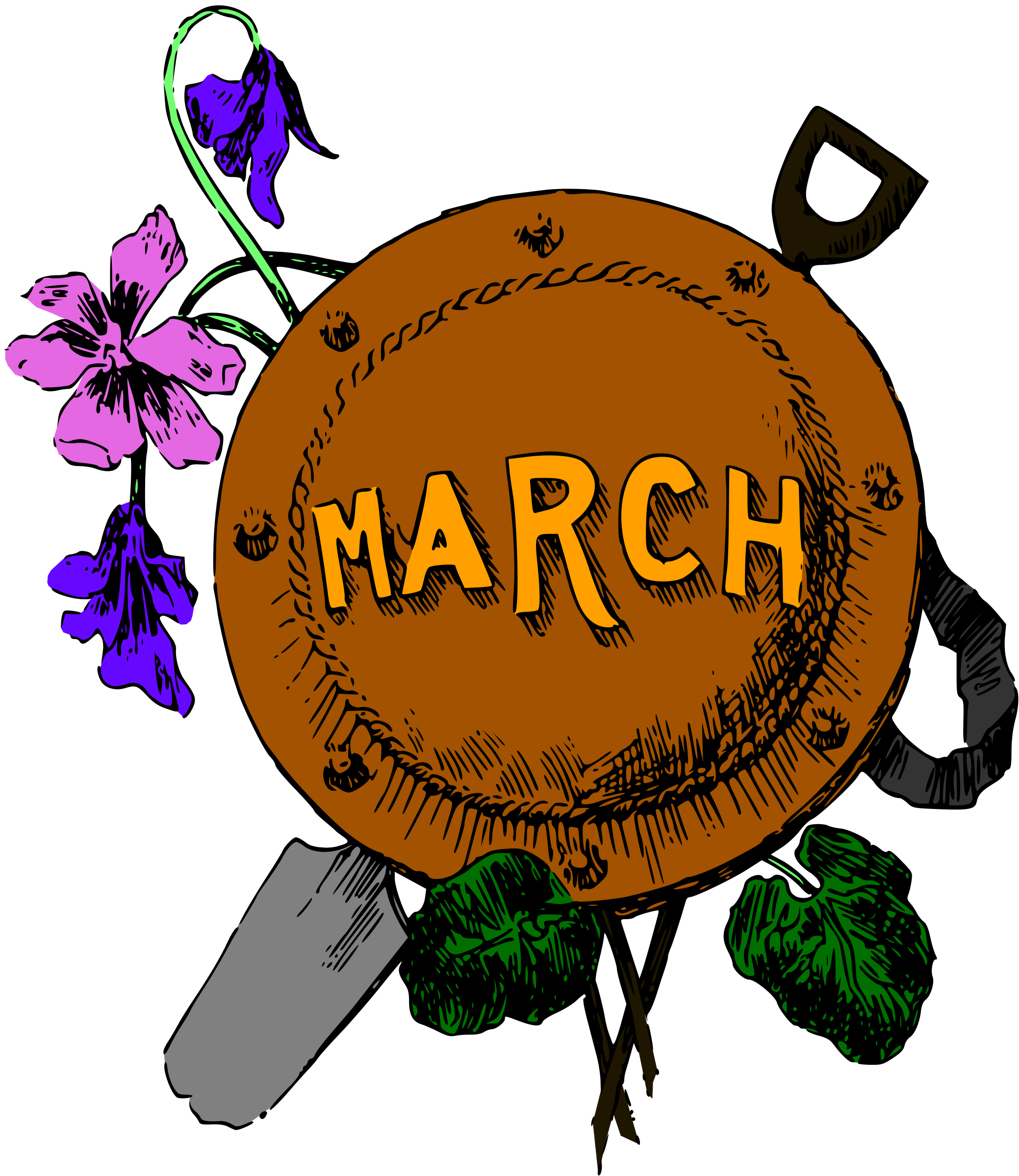 Illustrated months (March, colour) by Firkin