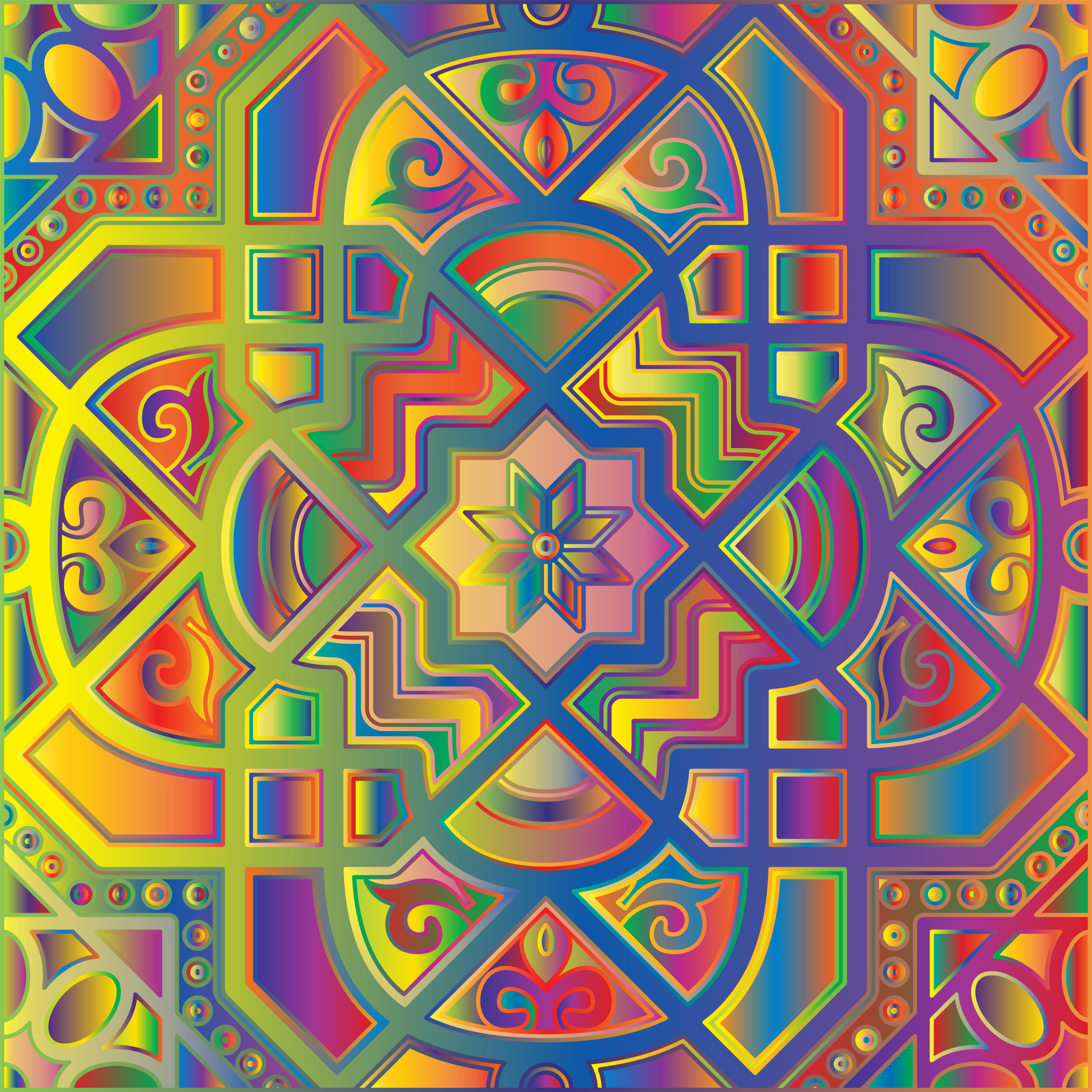 Chromatic Geometric Line Art 5 by GDJ