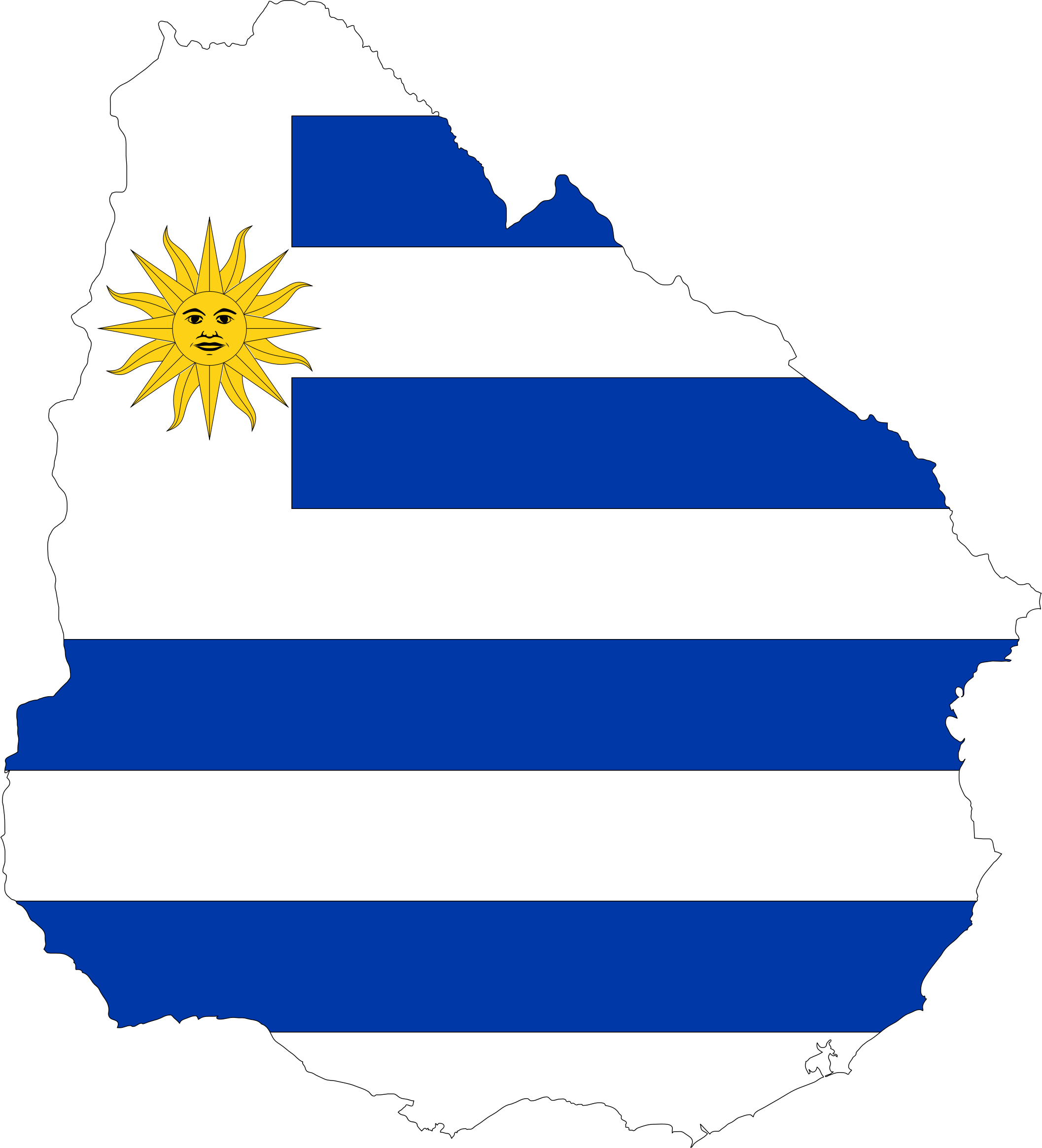 Uruguay Map Flag by GDJ