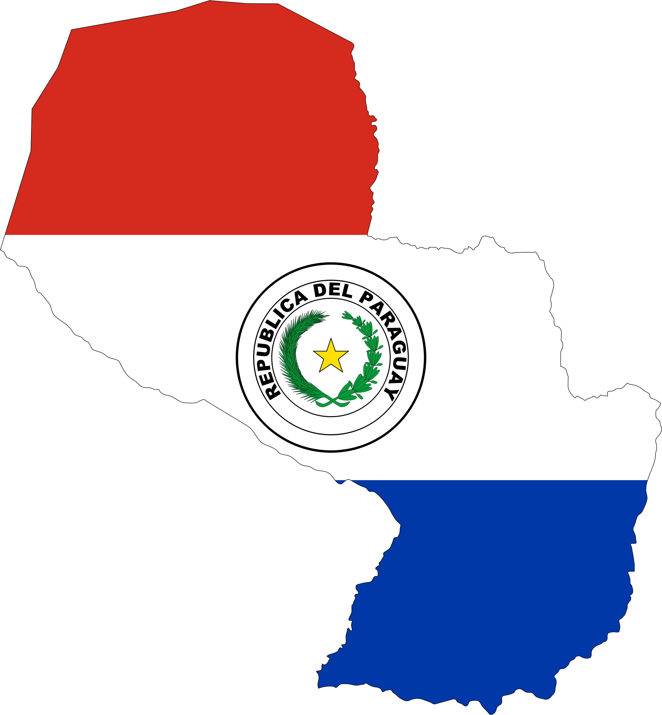 Paraguay Map Flag by GDJ