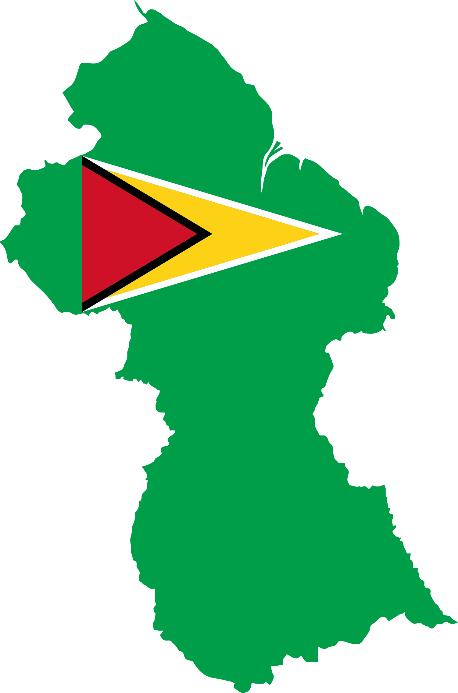 Guyana Map Flag by GDJ