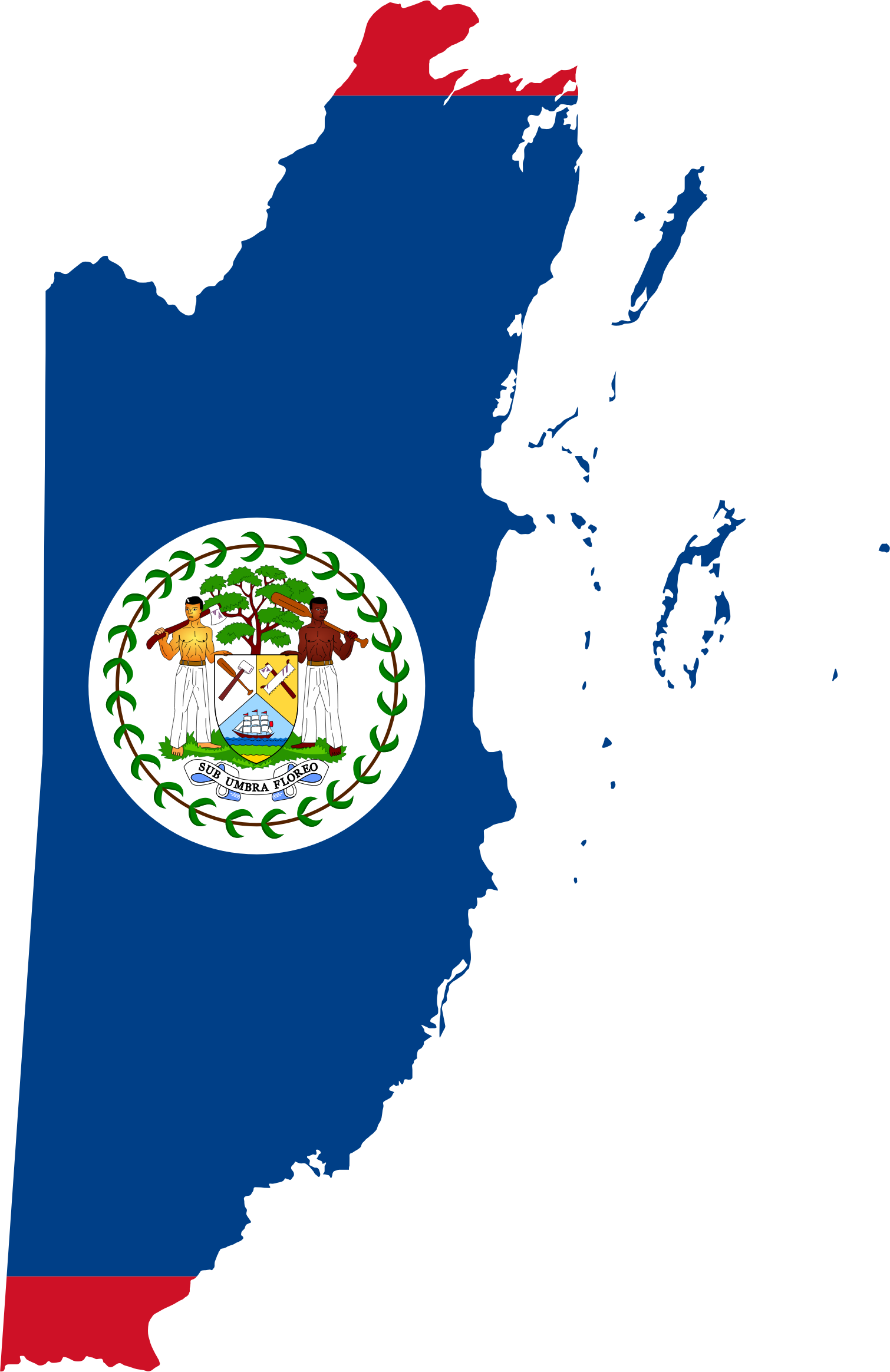 Belize Map Flag by GDJ