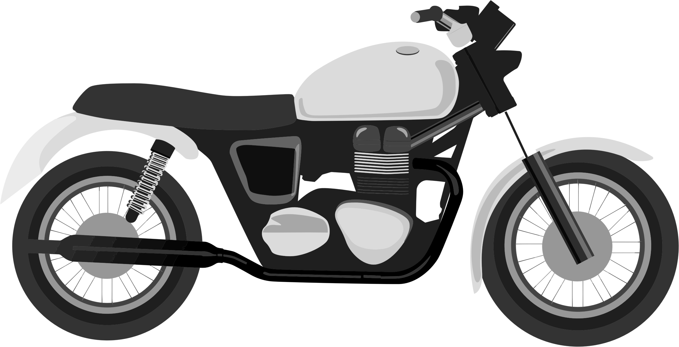 Grayscale Motorcycle by GDJ