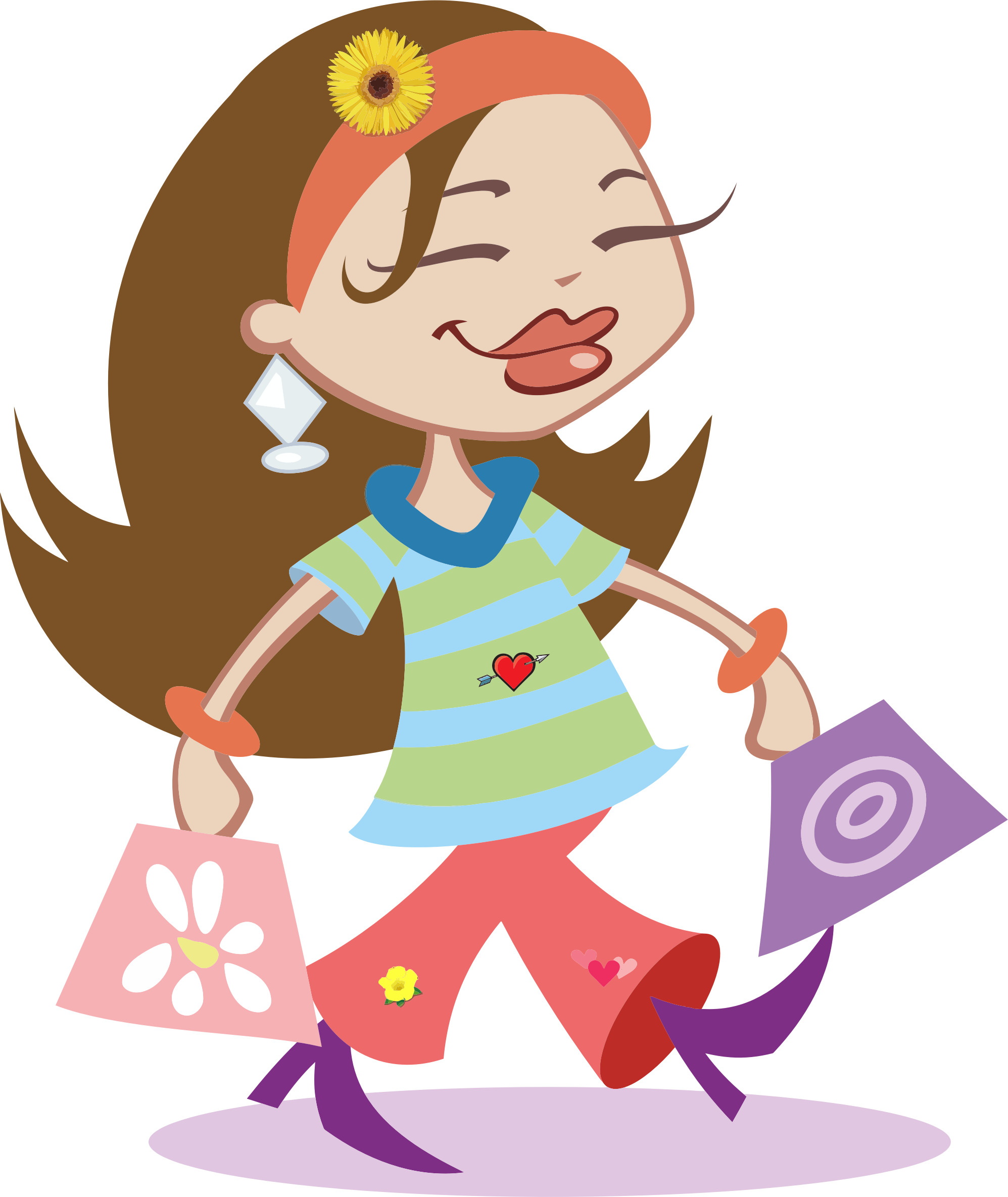 Happy Shopping Girl by GDJ