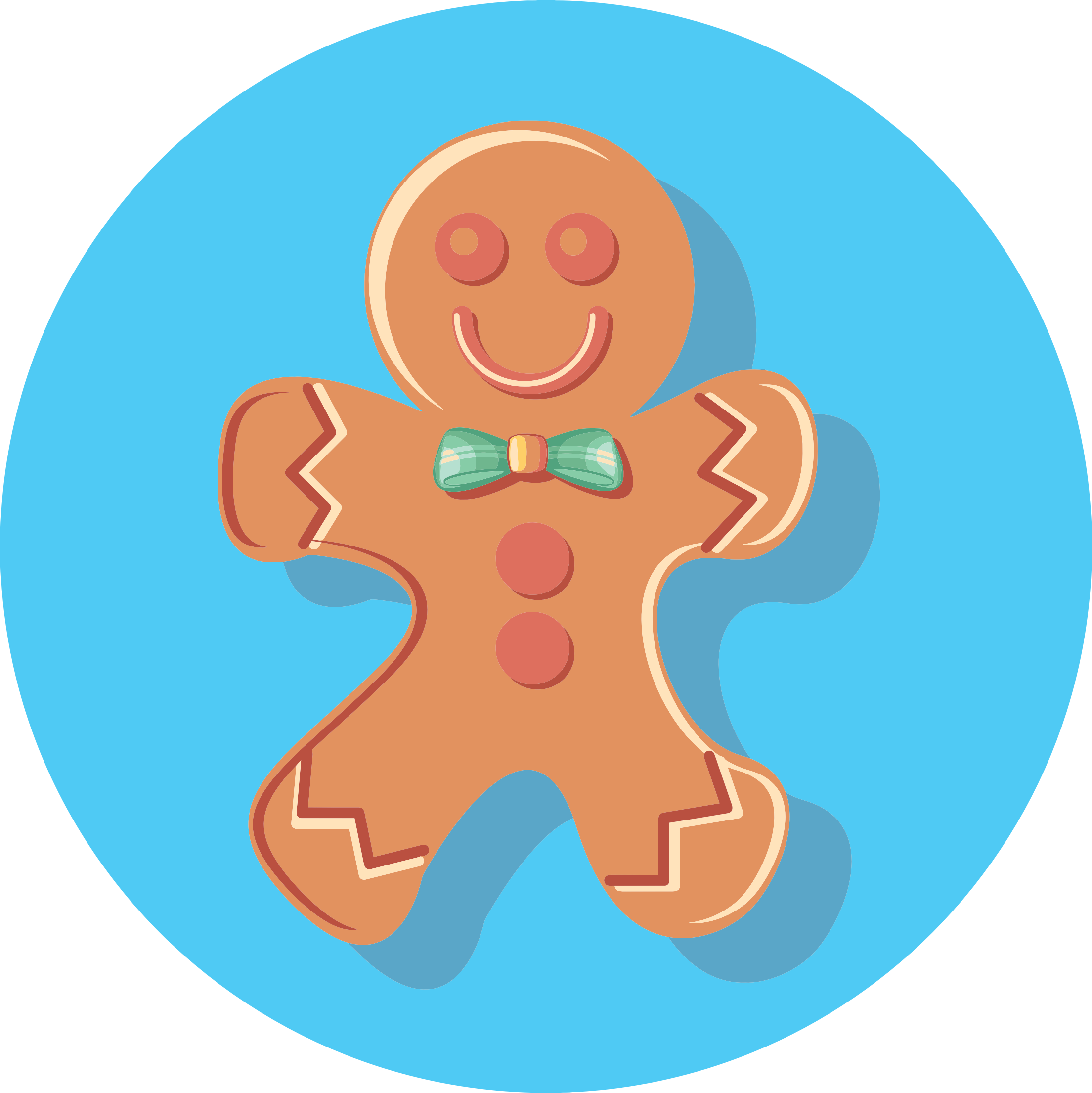 Gingerbread Man Icon by GDJ