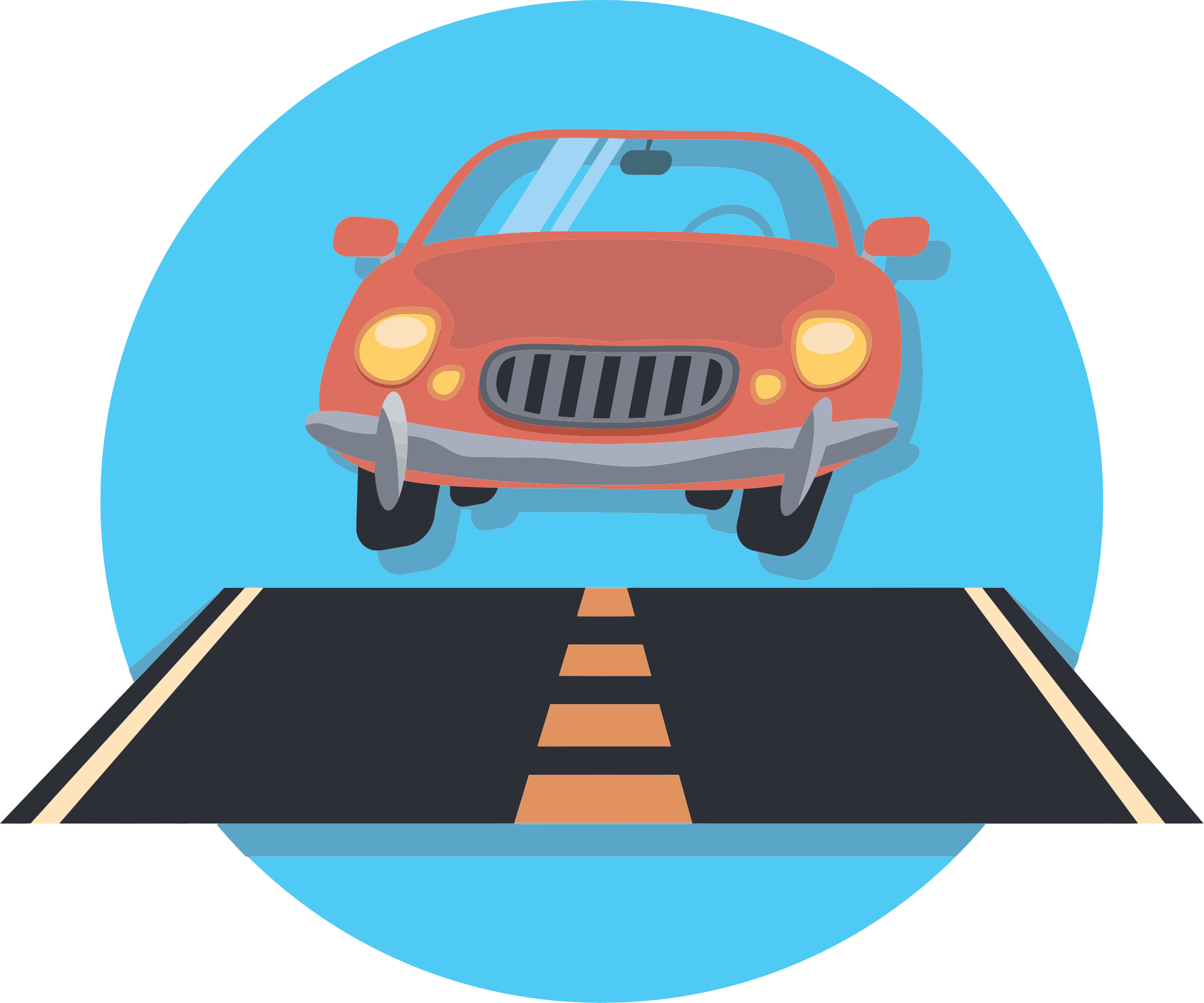 Car And Road Icon by GDJ