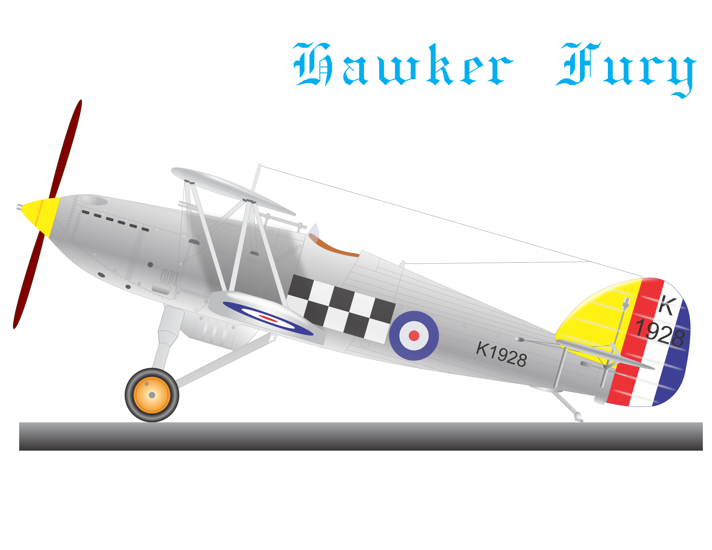 HAWKER FURY by charner1963