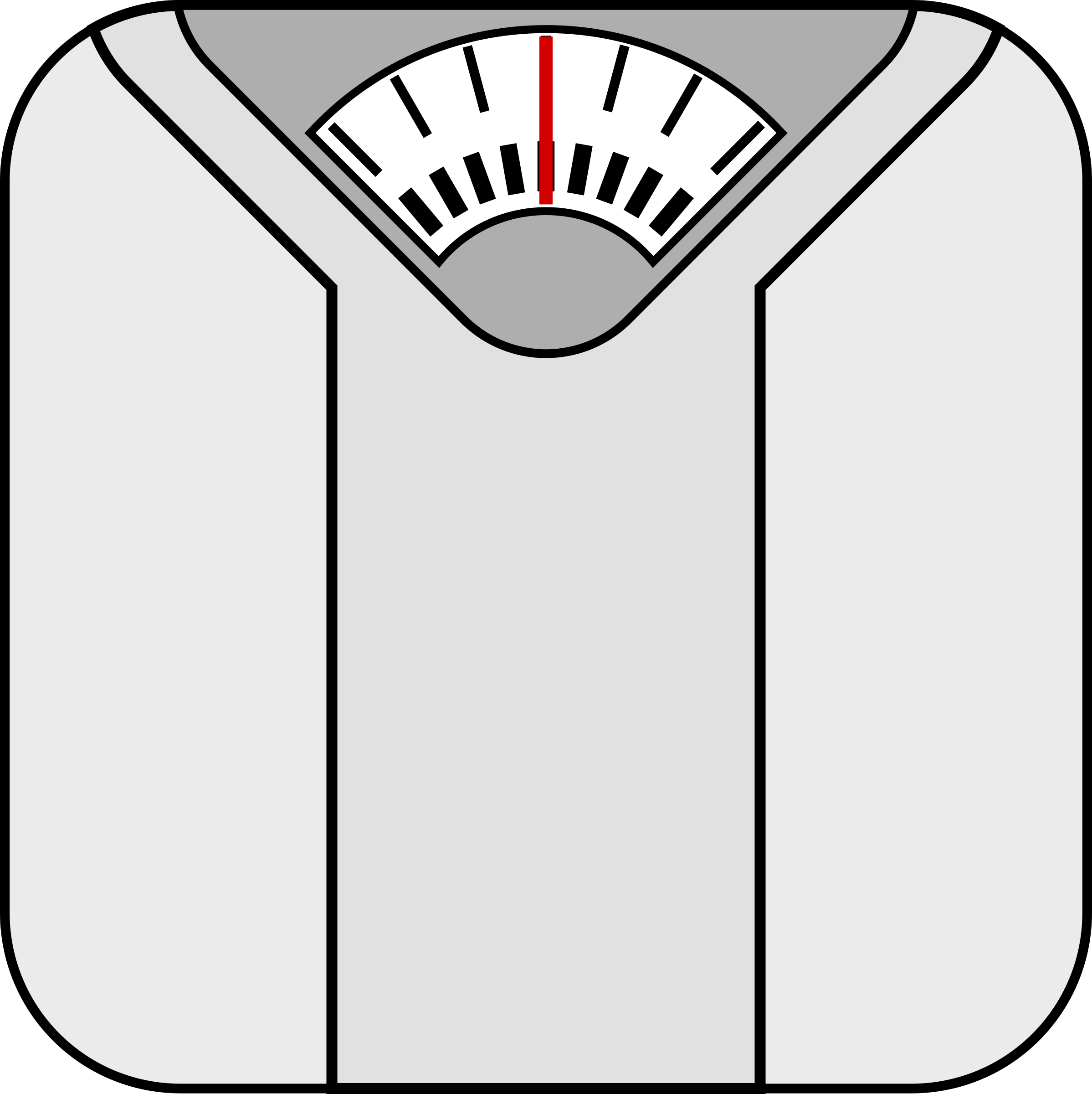 Clipart - Bathroom scale