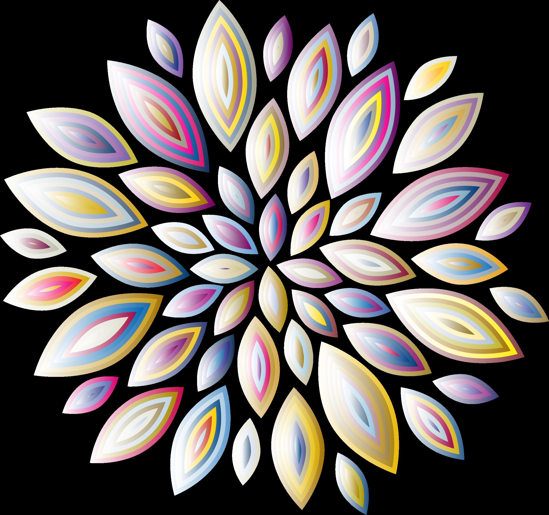 Clipart Chromatic Flower Petals 8