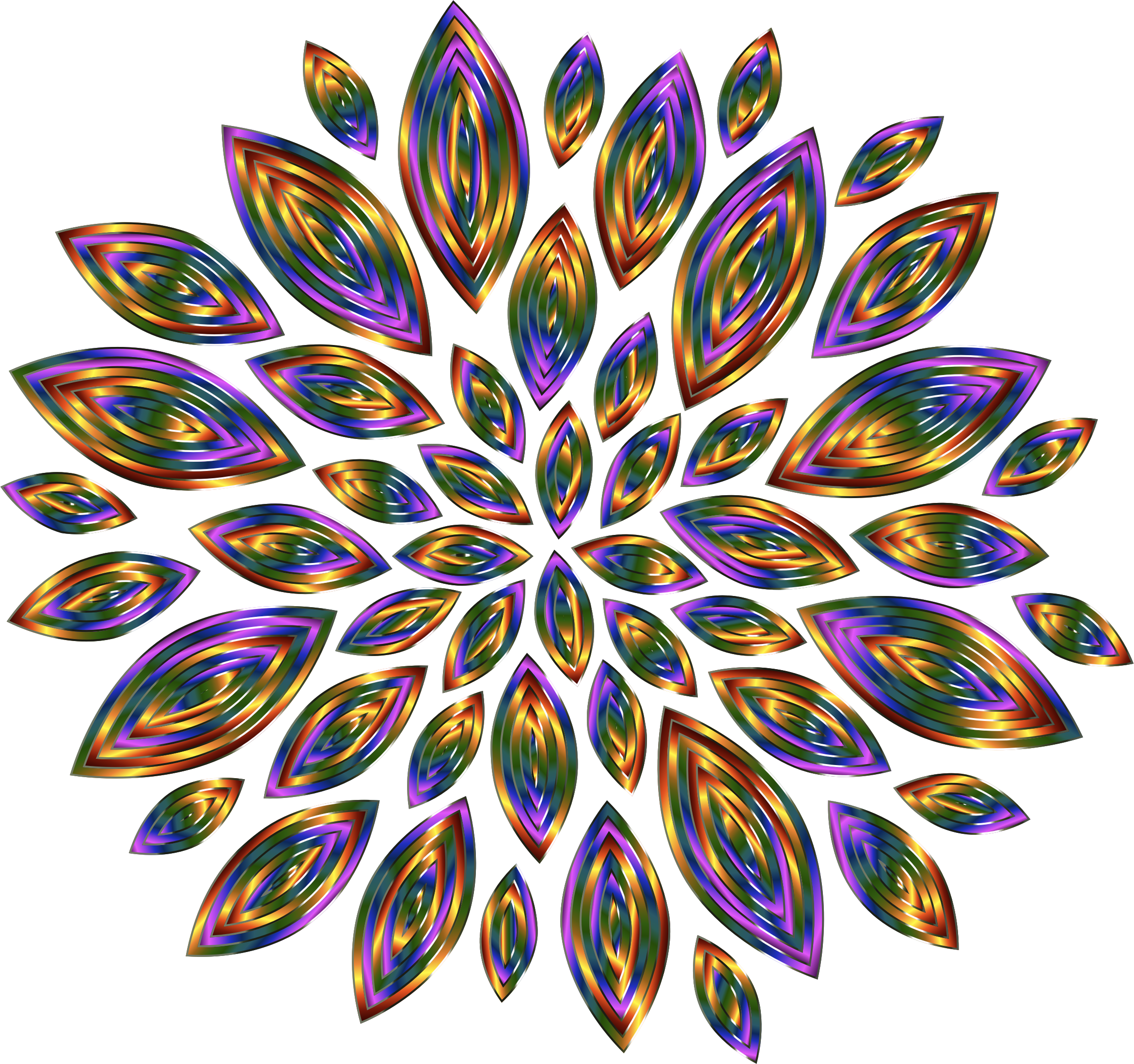 Chromatic Flower Petals 12 by GDJ