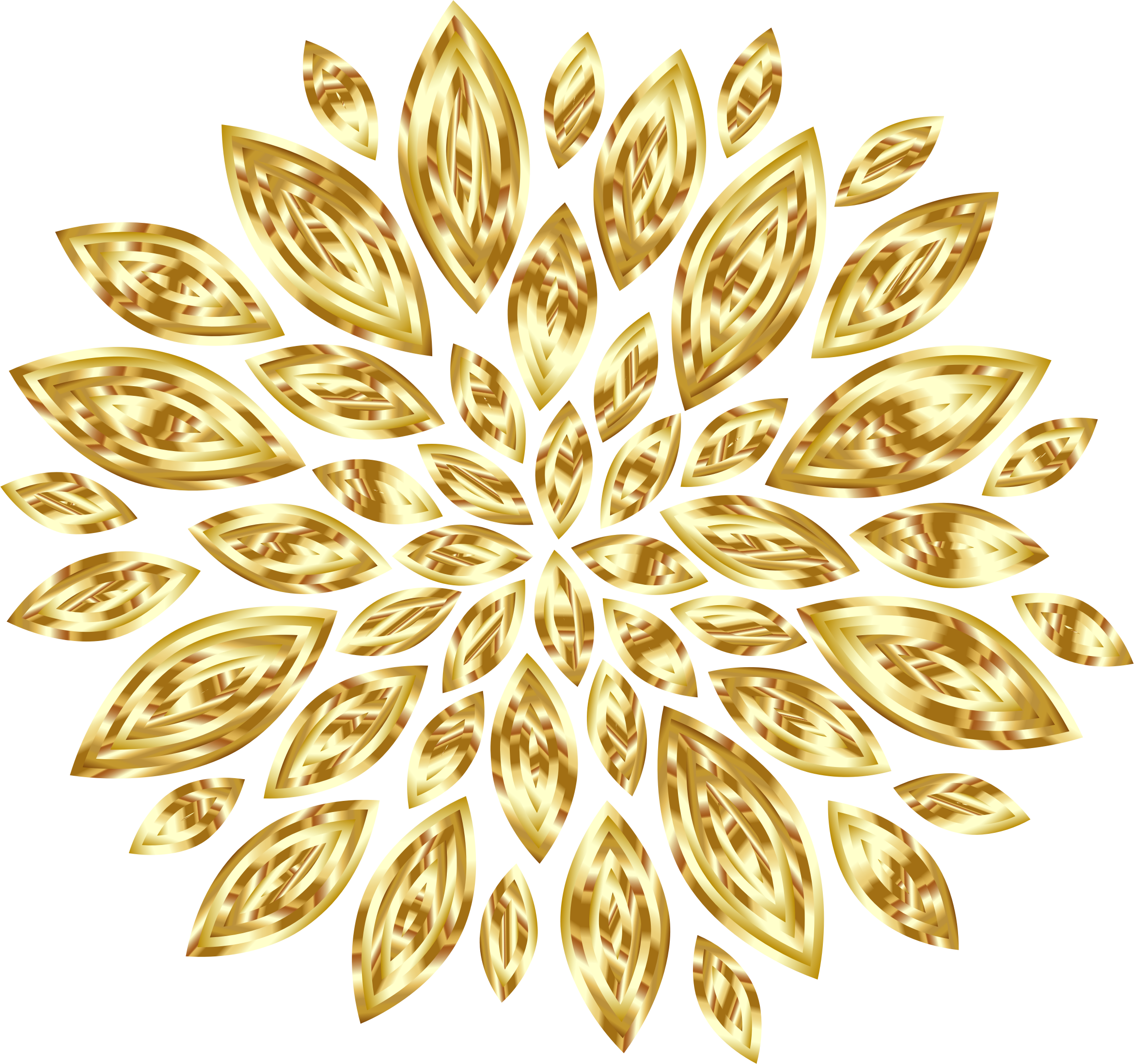 Gold Flower Petals Variation 2 by GDJ