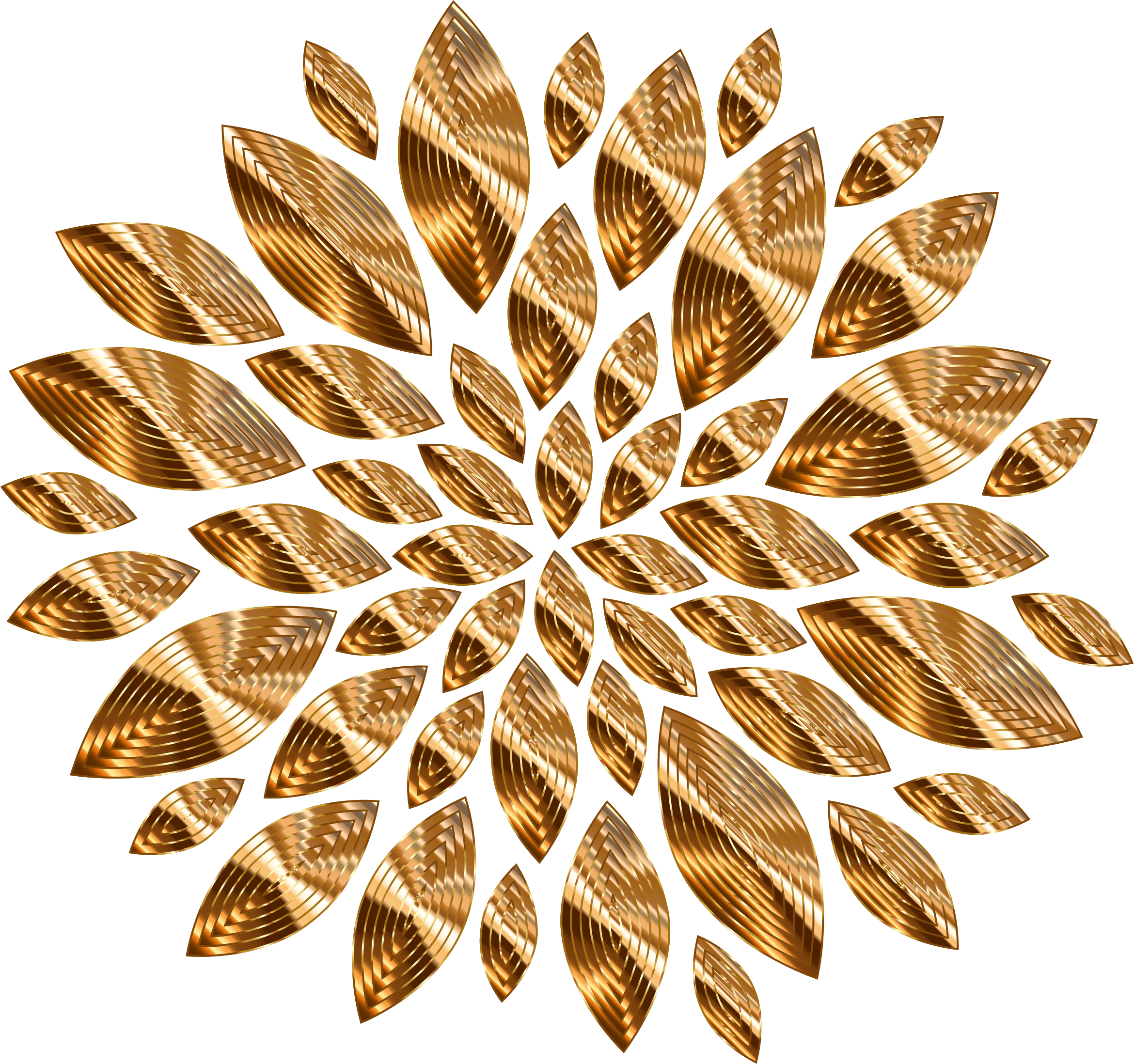 Gold Flower Petals Variation 4 by GDJ