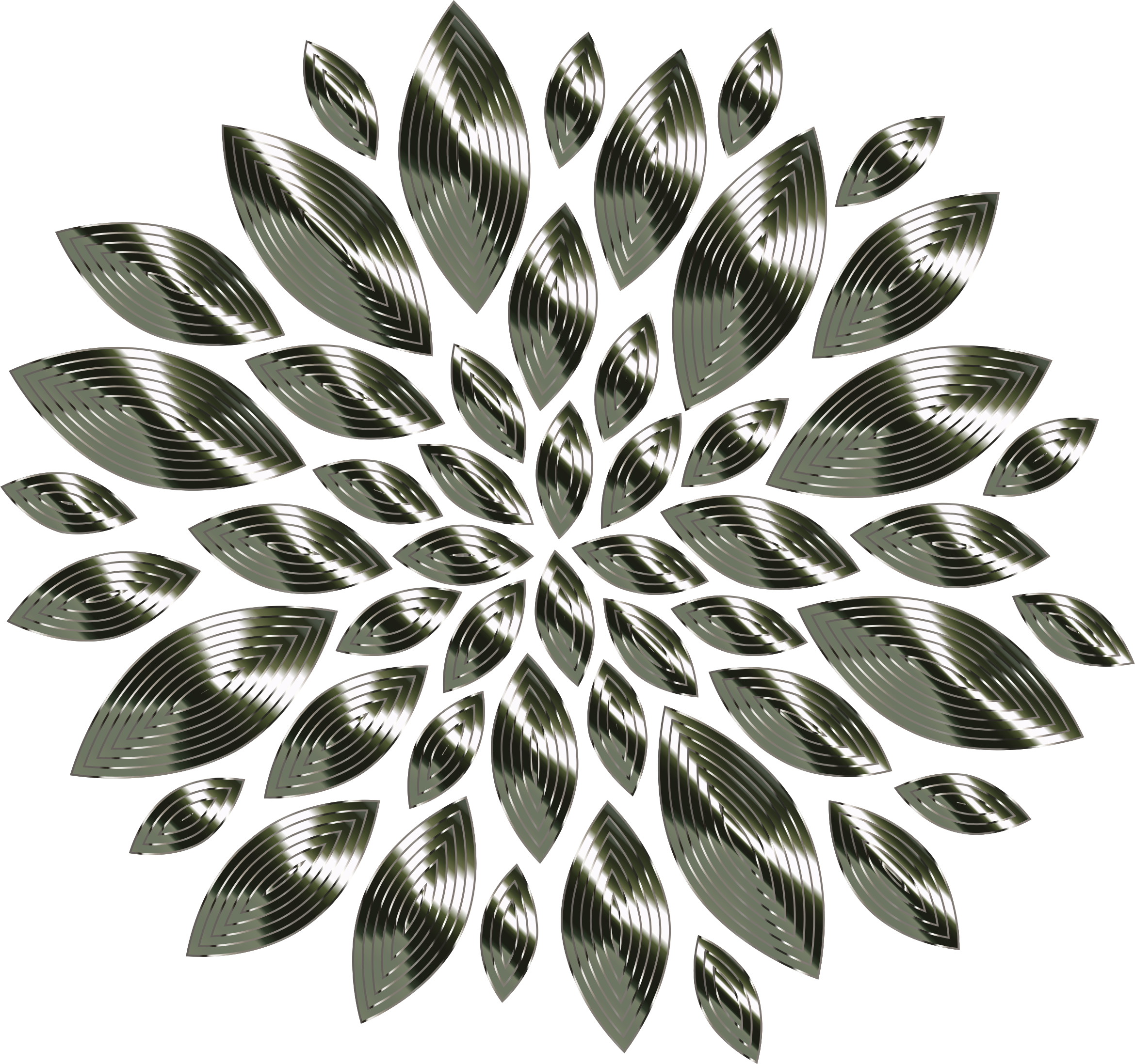 Chrome Flower Petals 2 by GDJ