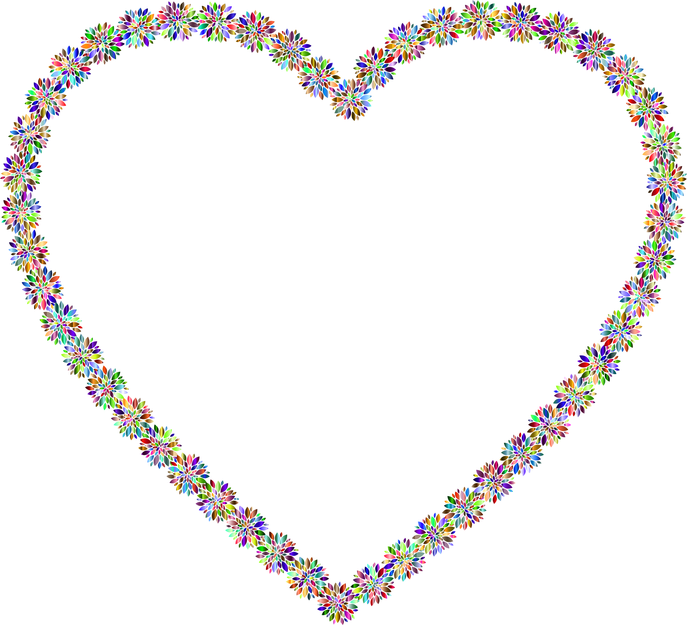 Prismatic Petals Heart by GDJ