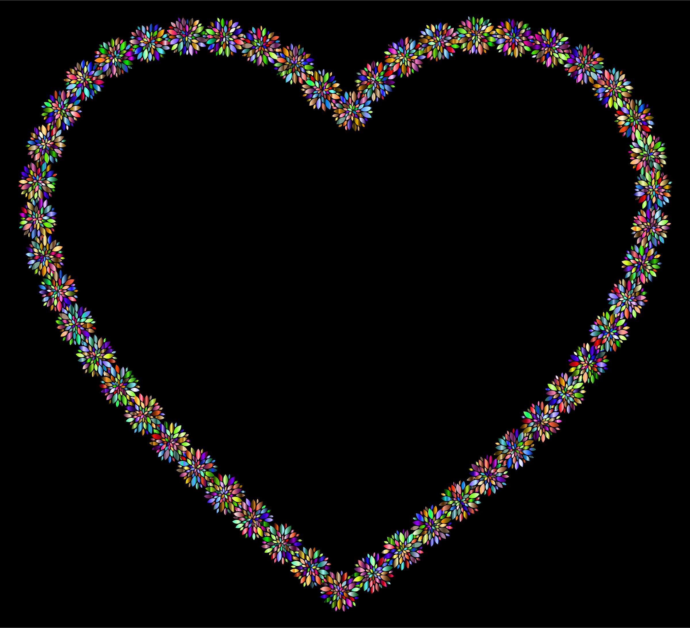 Prismatic Petals Heart With Background by GDJ
