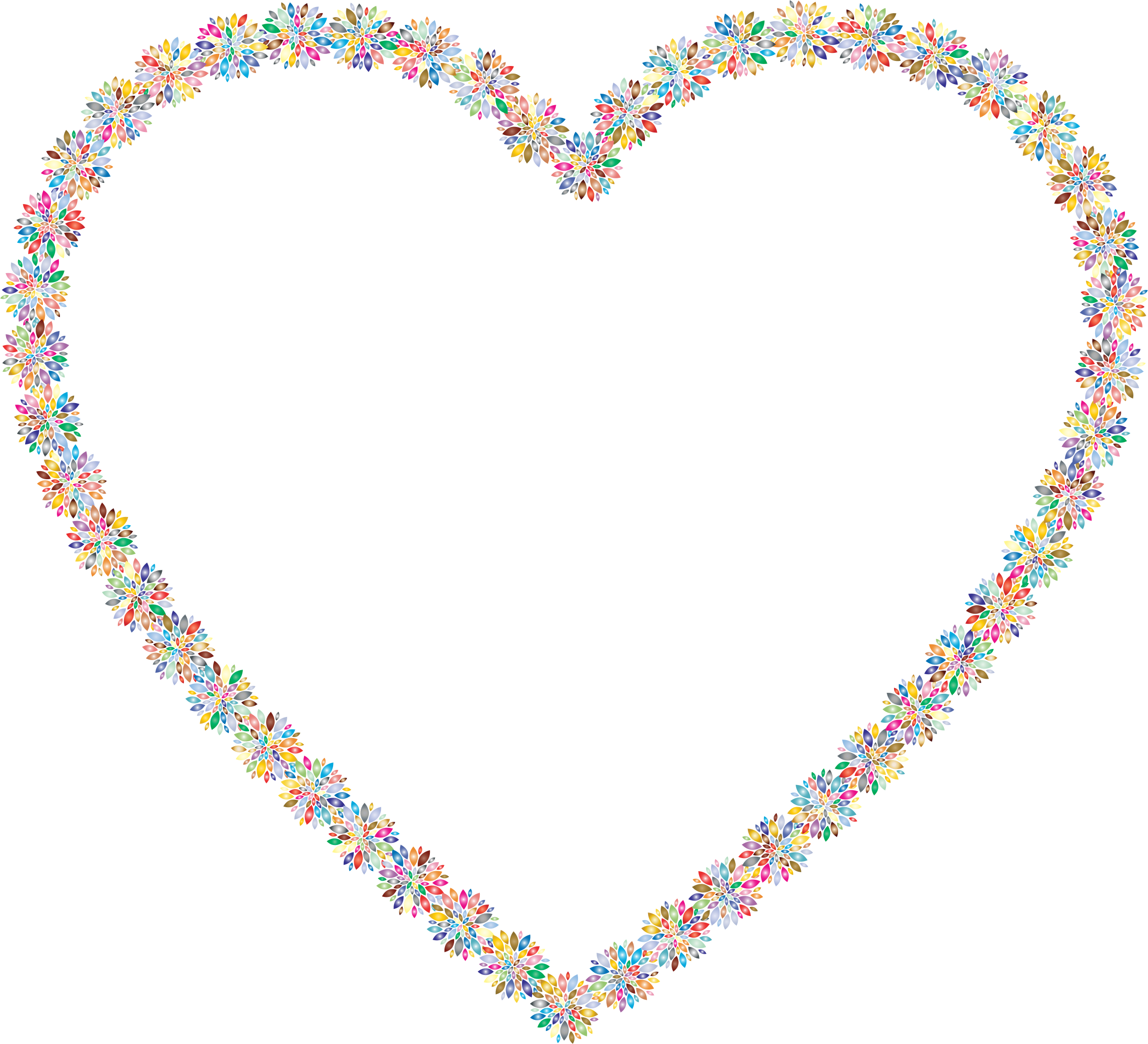 Prismatic Petals Heart 3 by GDJ