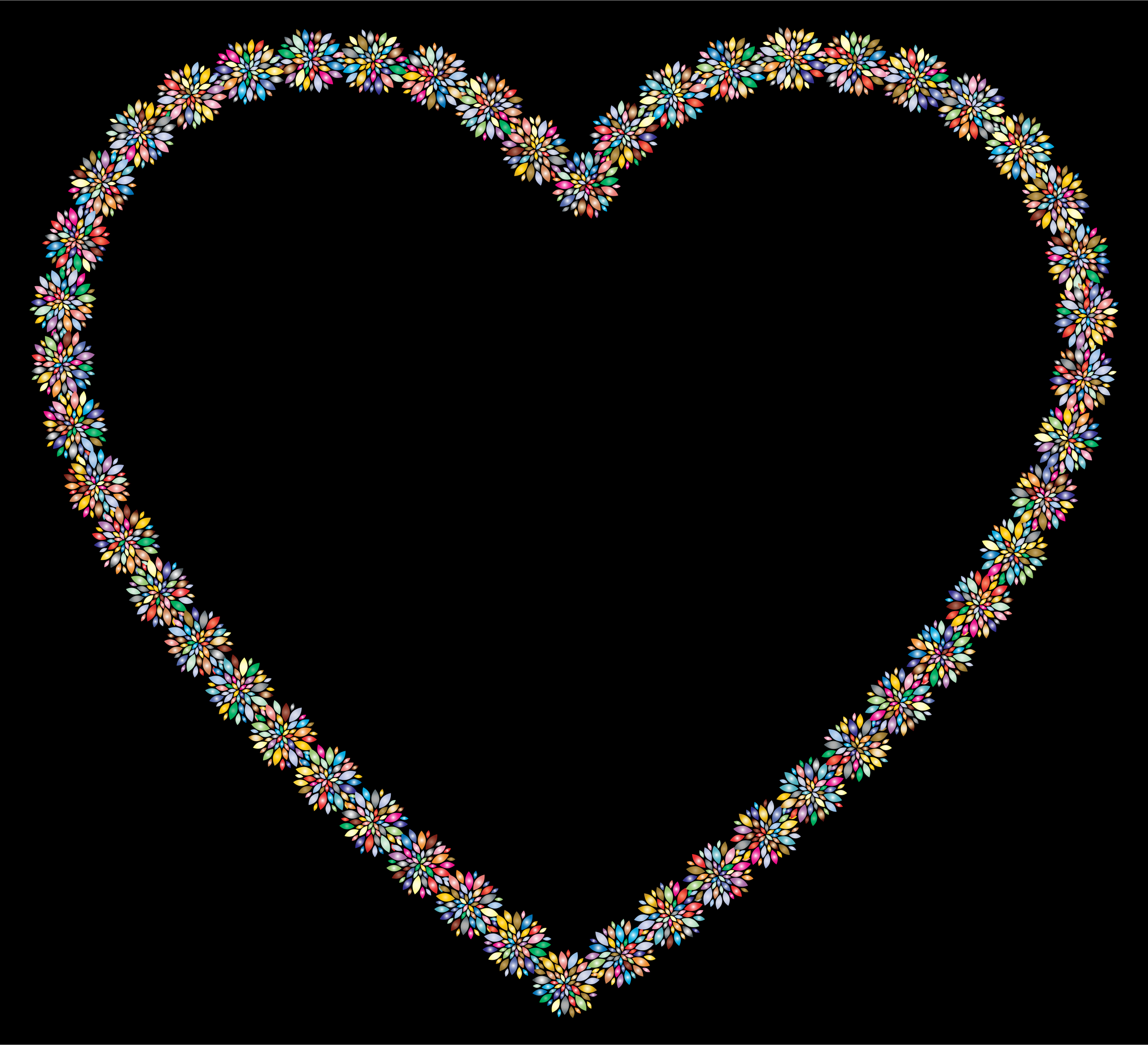 Prismatic Petals Heart 3 With Background by GDJ