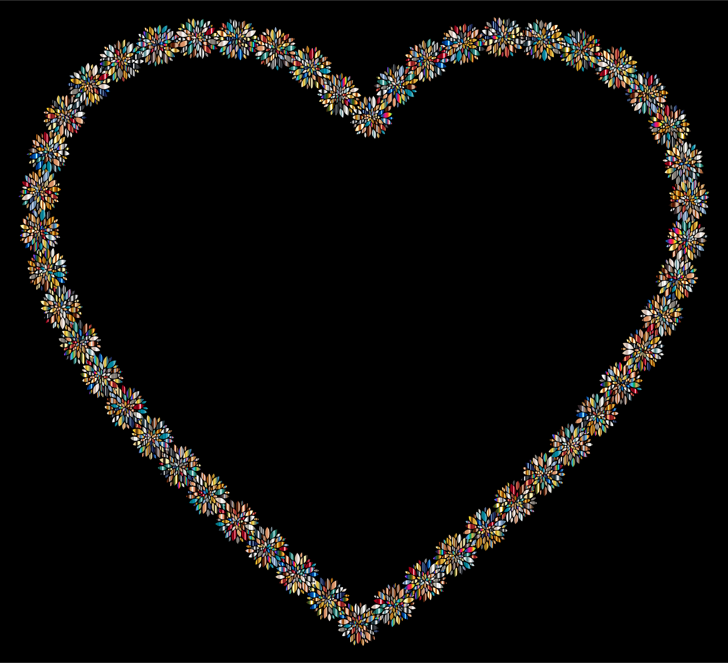 Prismatic Petals Heart 4 With Background by GDJ