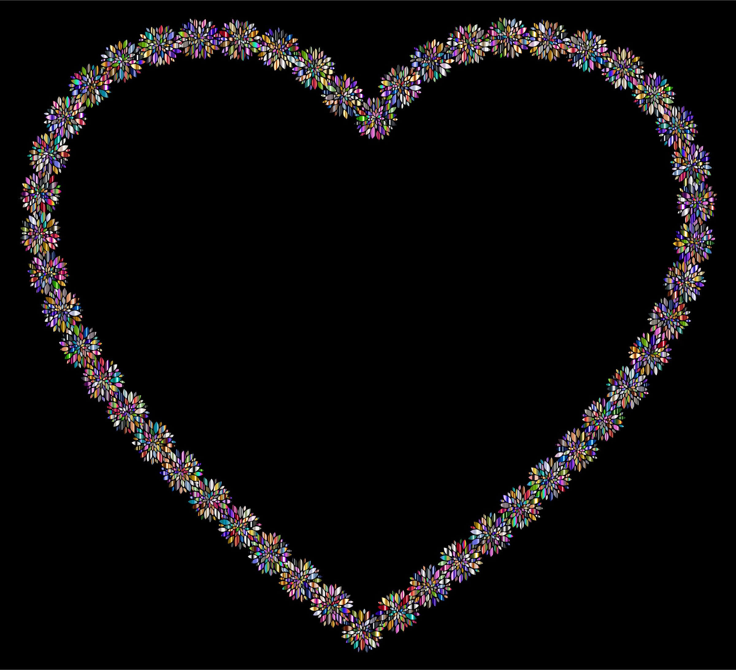 Prismatic Petals Heart 5 With Background by GDJ