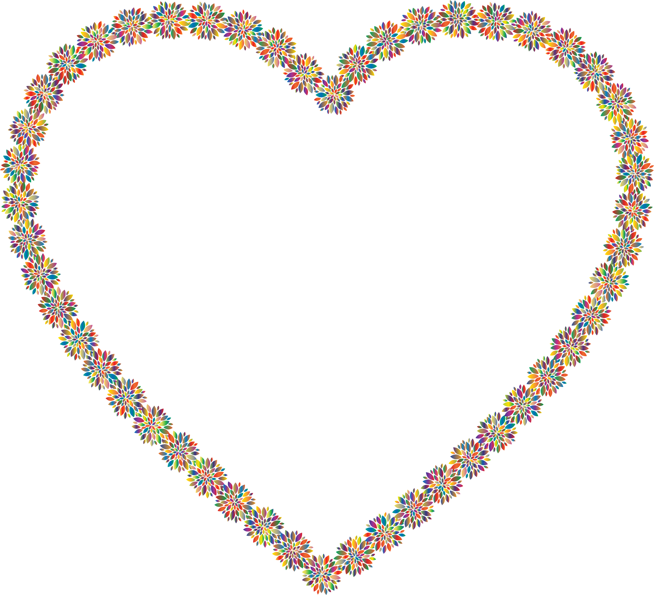 Prismatic Petals Heart 6 by GDJ