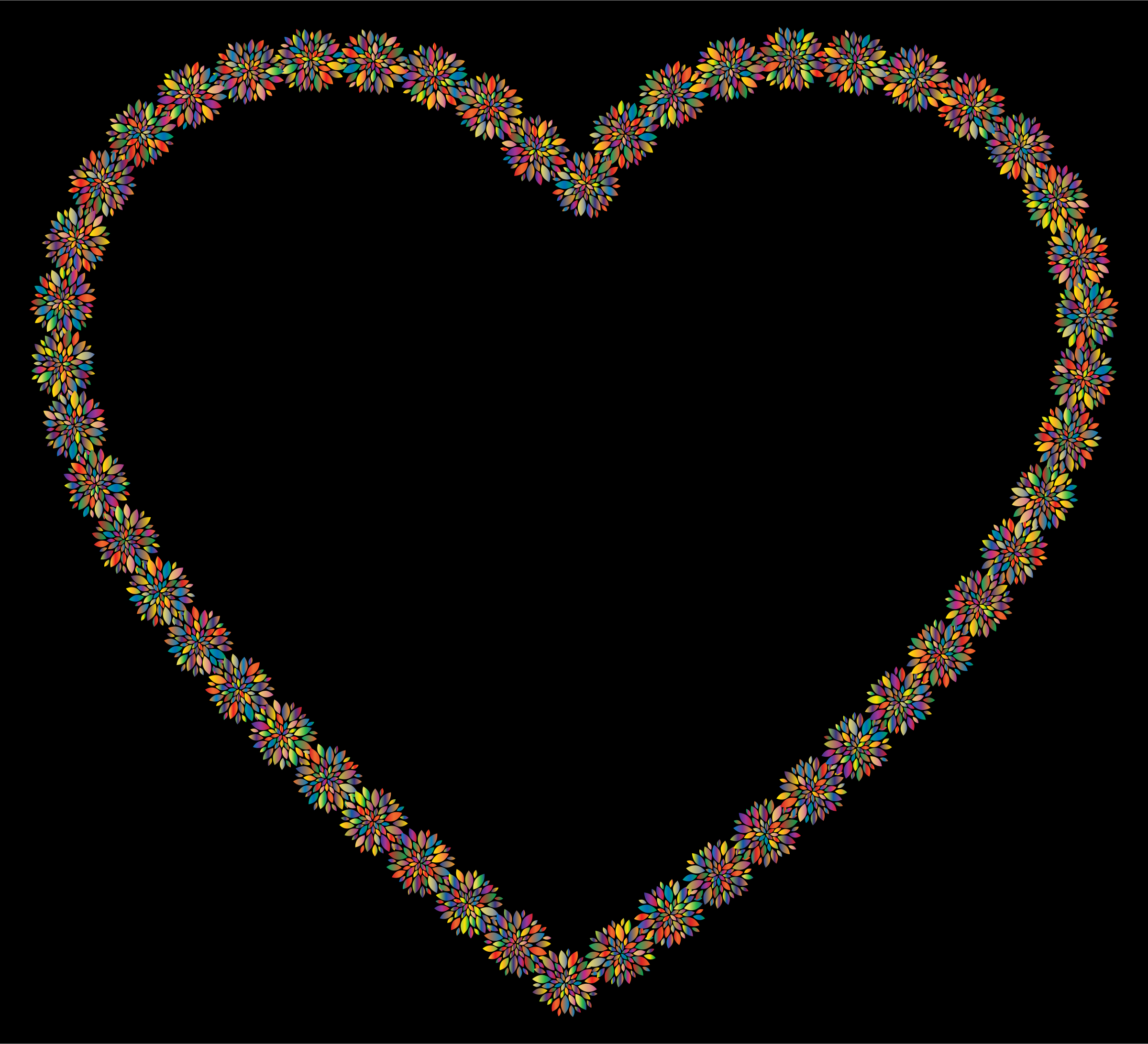 Prismatic Petals Heart 6 With Background by GDJ