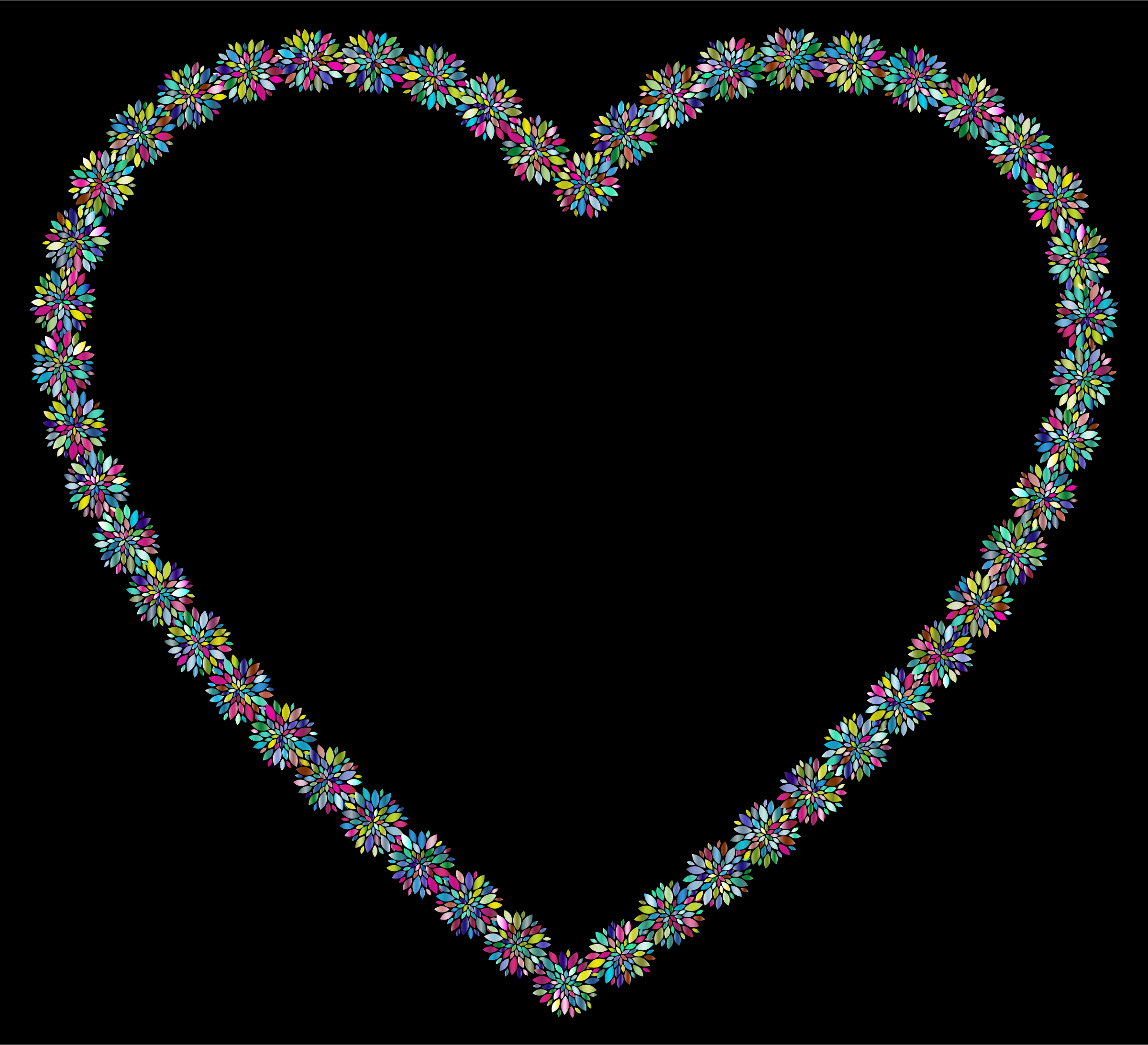 Prismatic Petals Heart 7 With Background by GDJ