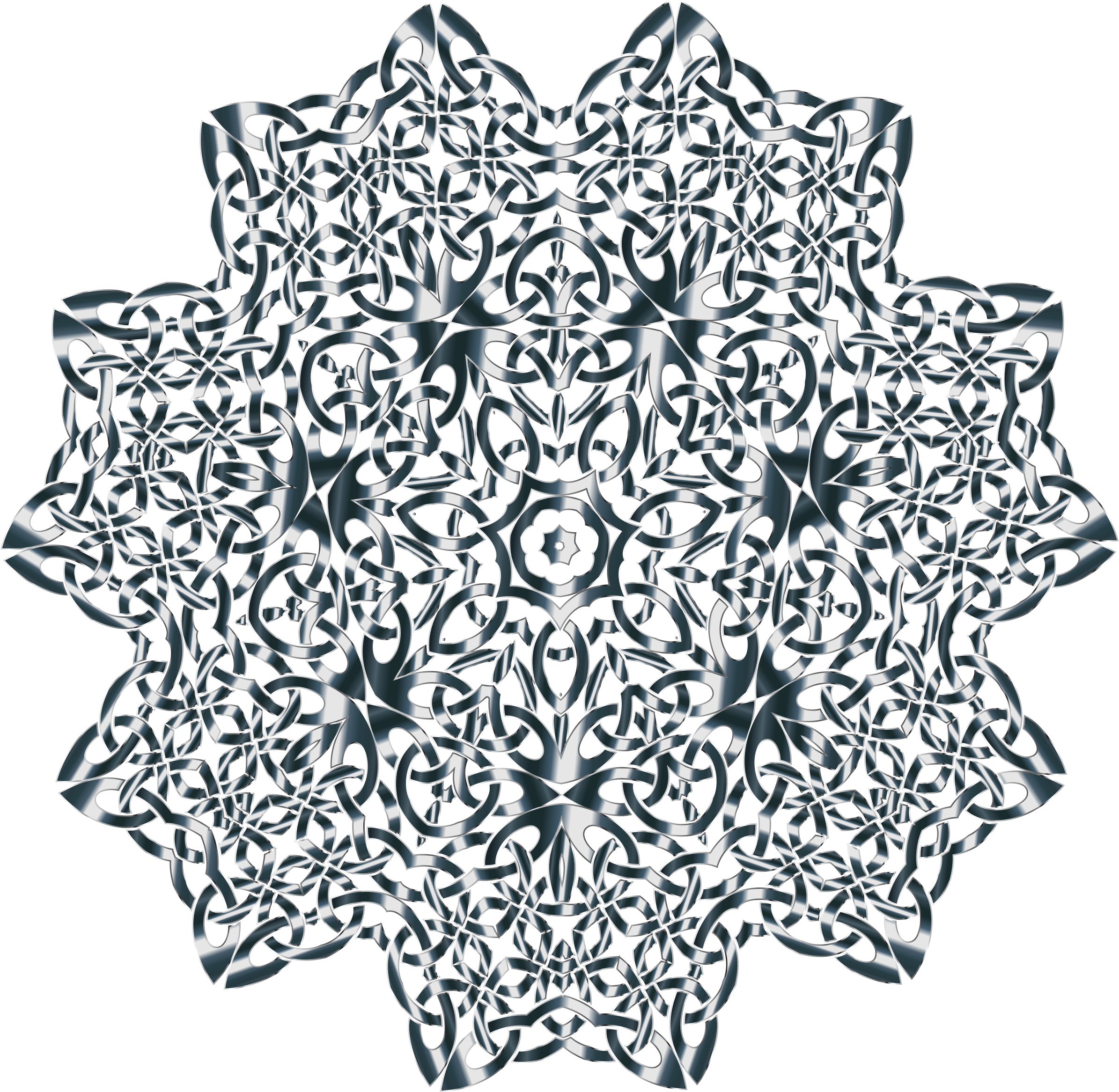 Celtic Knot Design 11 Variation 2 Without Background by GDJ
