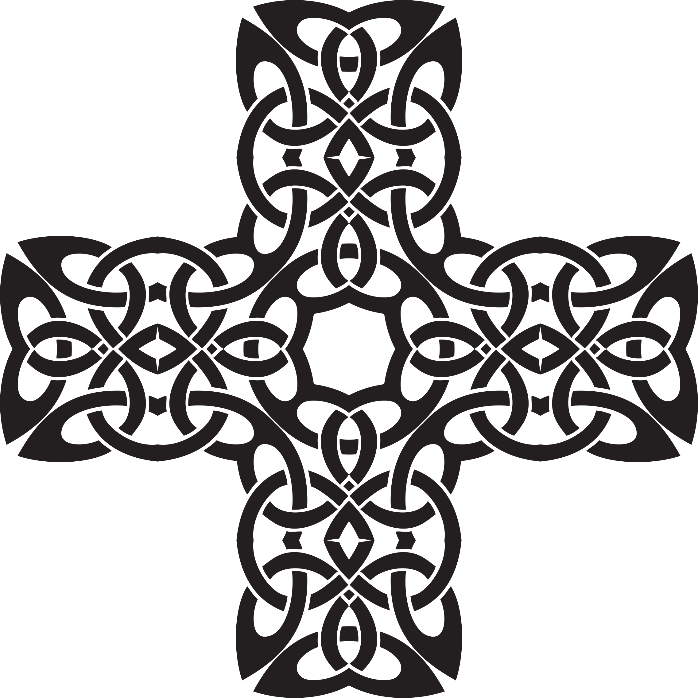 Celtic Knot Cross 2 by GDJ