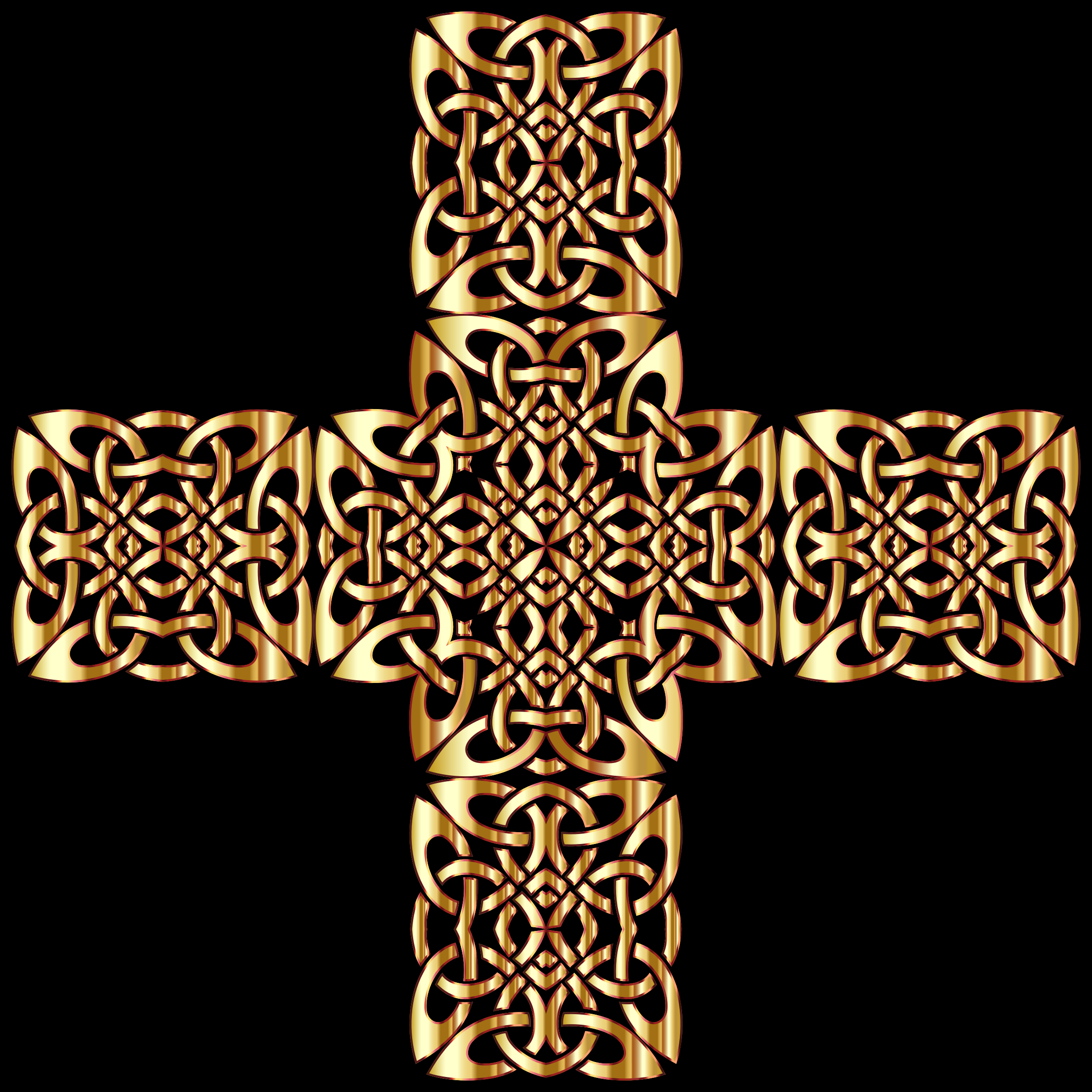 Golden Celtic Knot Cross 3 by GDJ