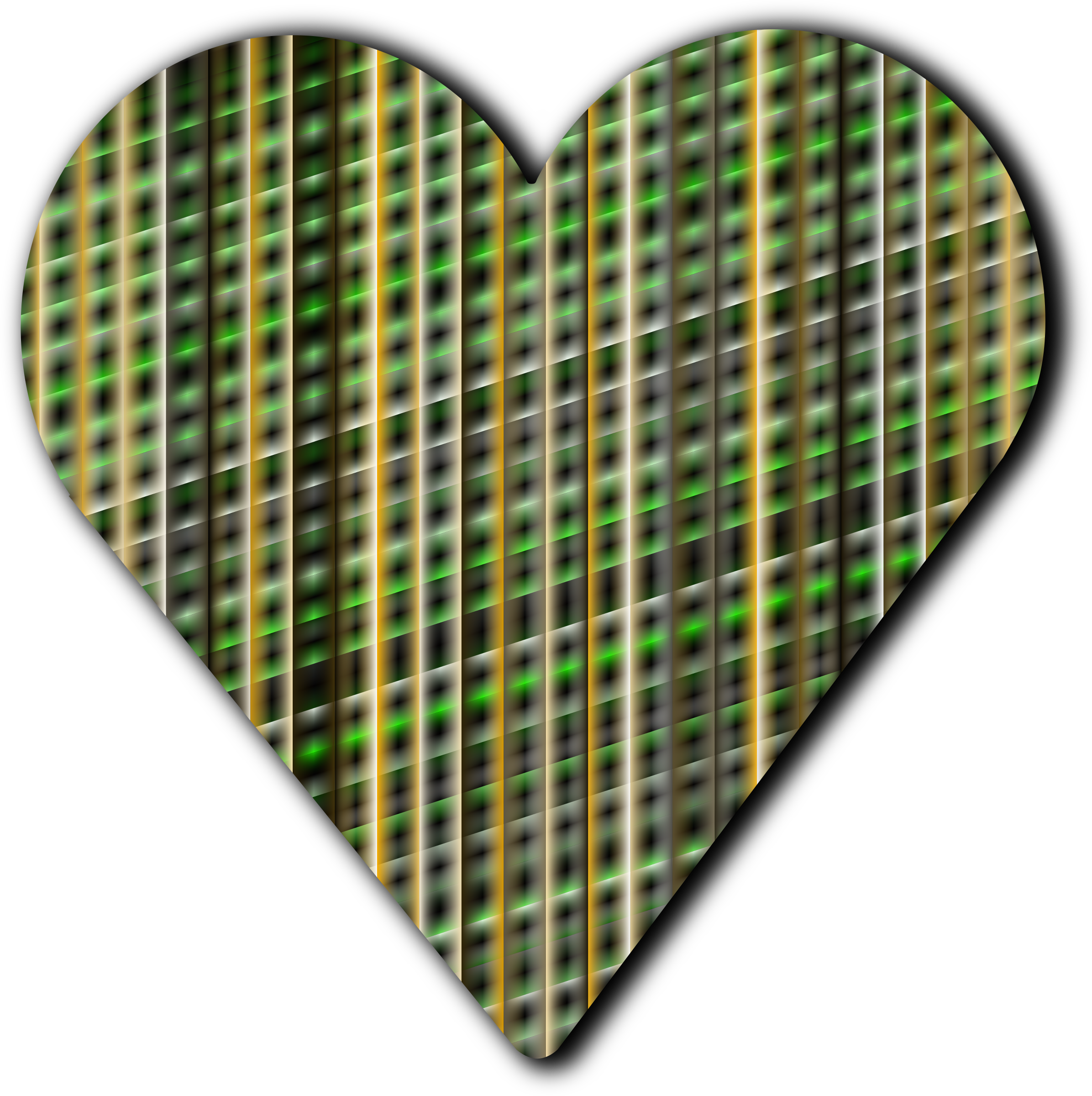 Patterned heart 5 by Firkin