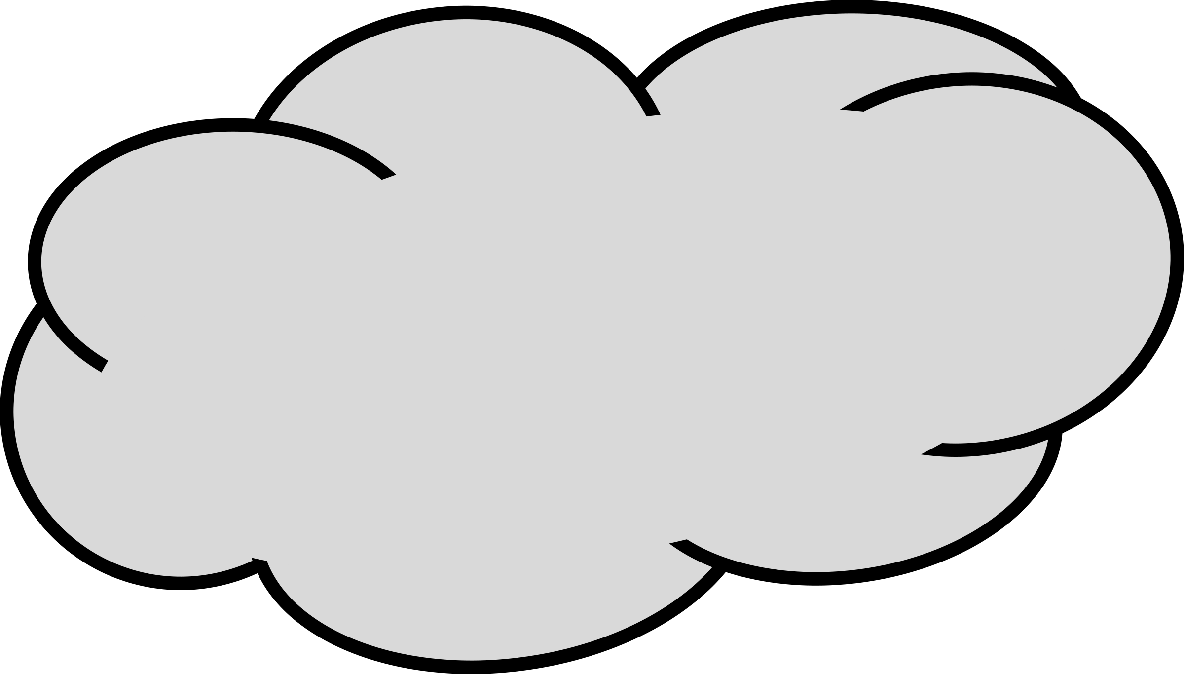 clipart grey cloud 1