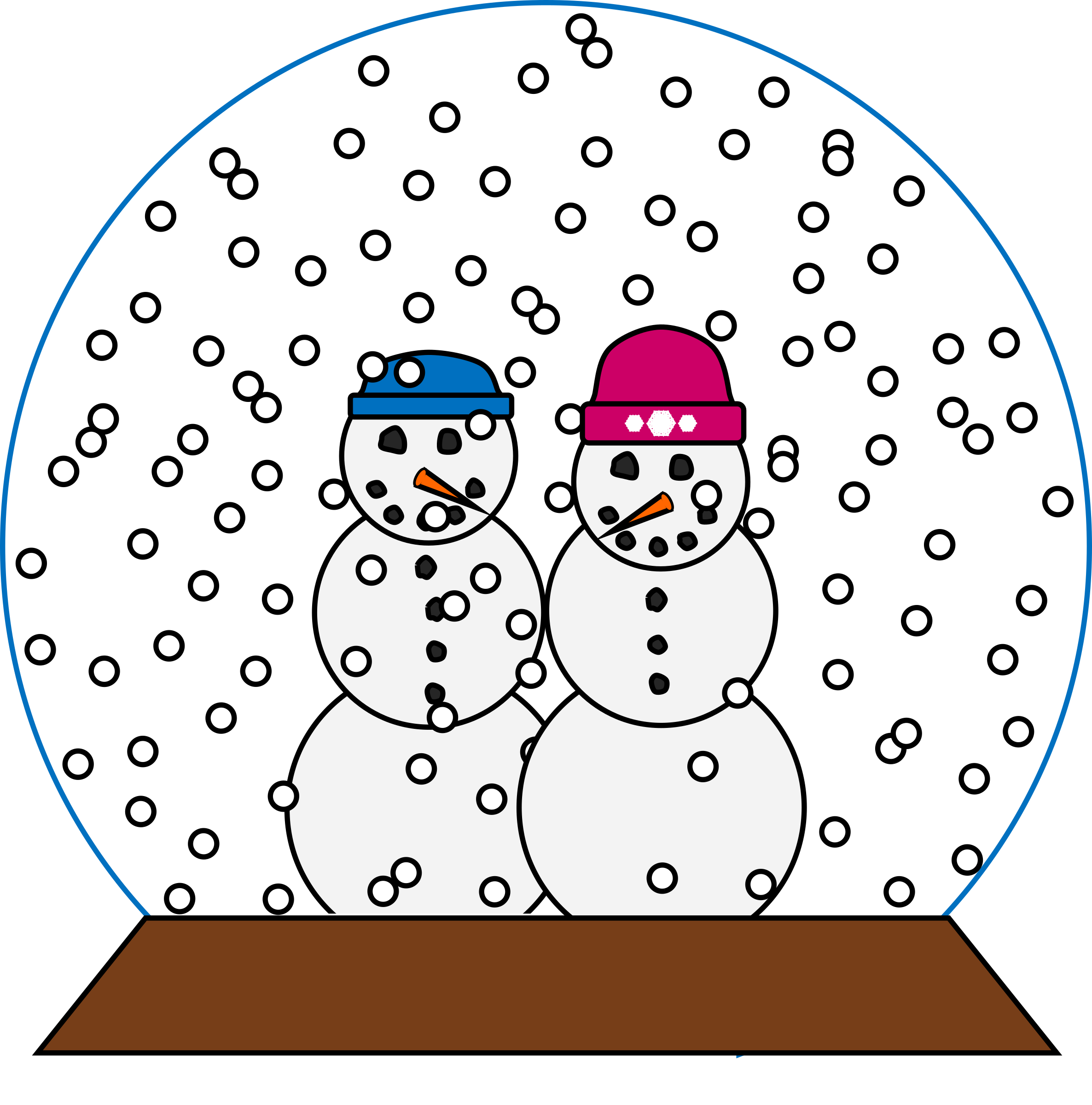 Snowpeople Snowglobe by barnheartowl