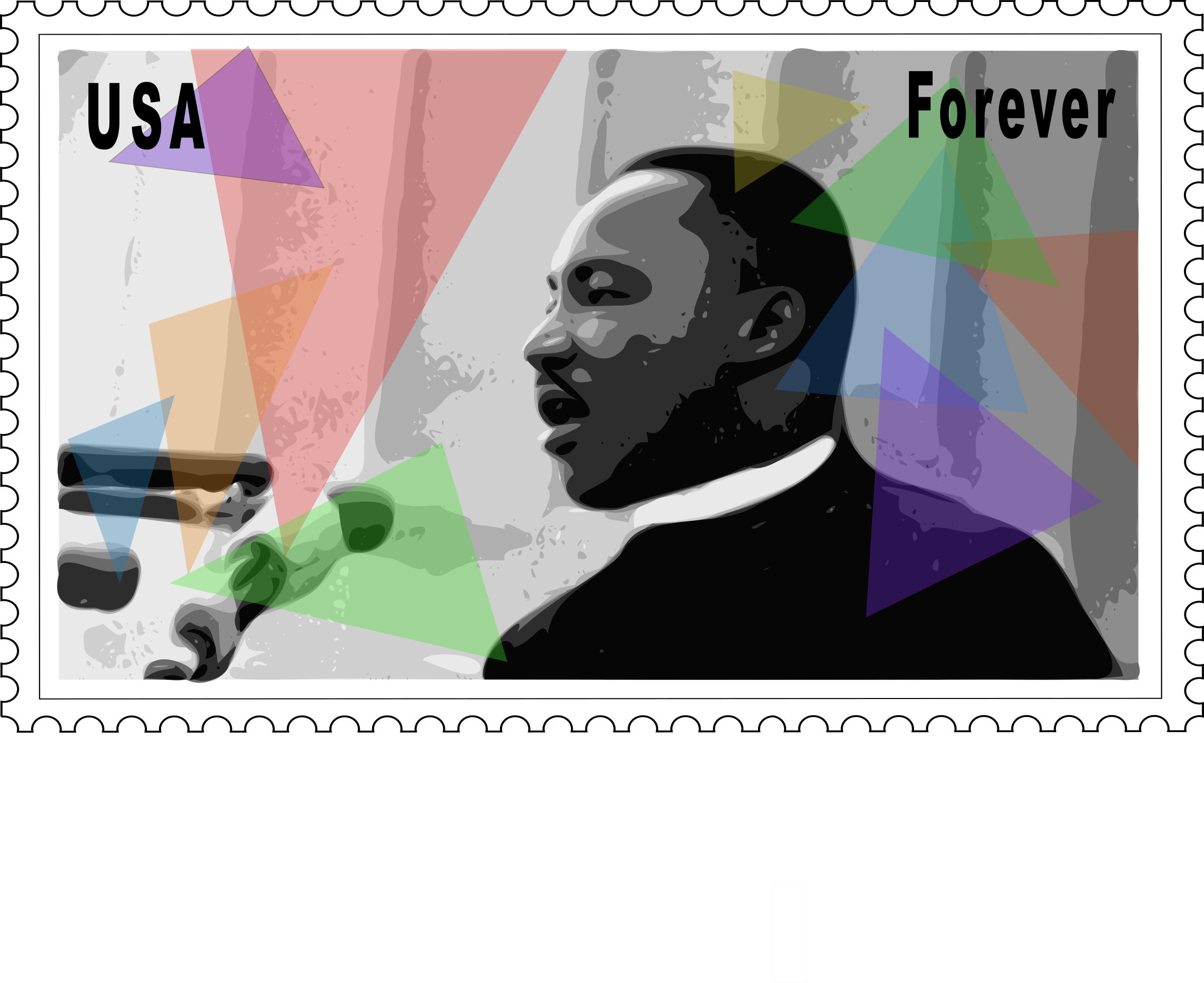 Martin Luther King Jr. Stamp by barnheartowl