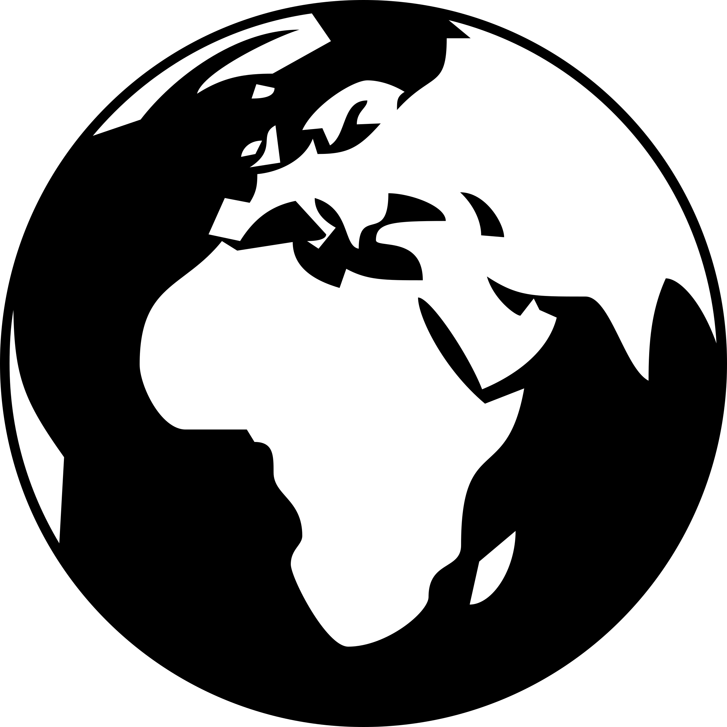 Simple globe showing Africa, Asia and Europe in black and white by brylie