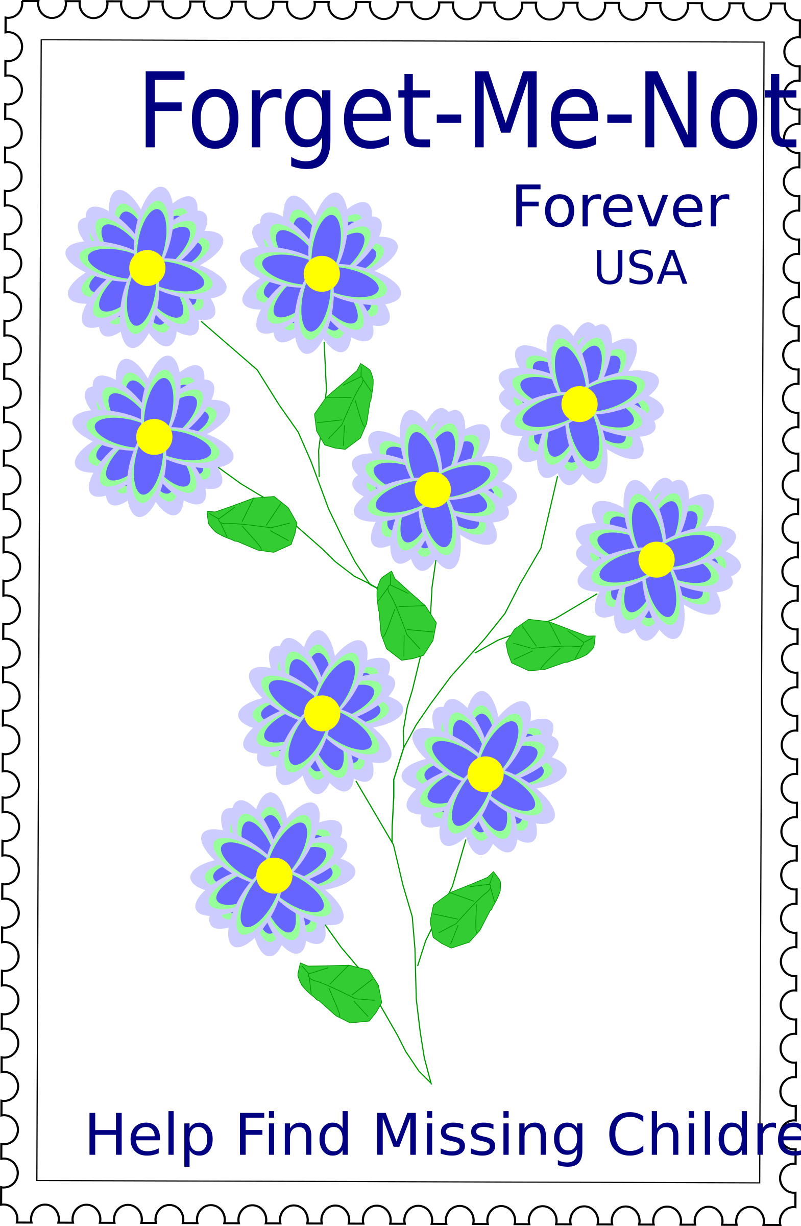 Forget-Me-Not Stamp by barnheartowl