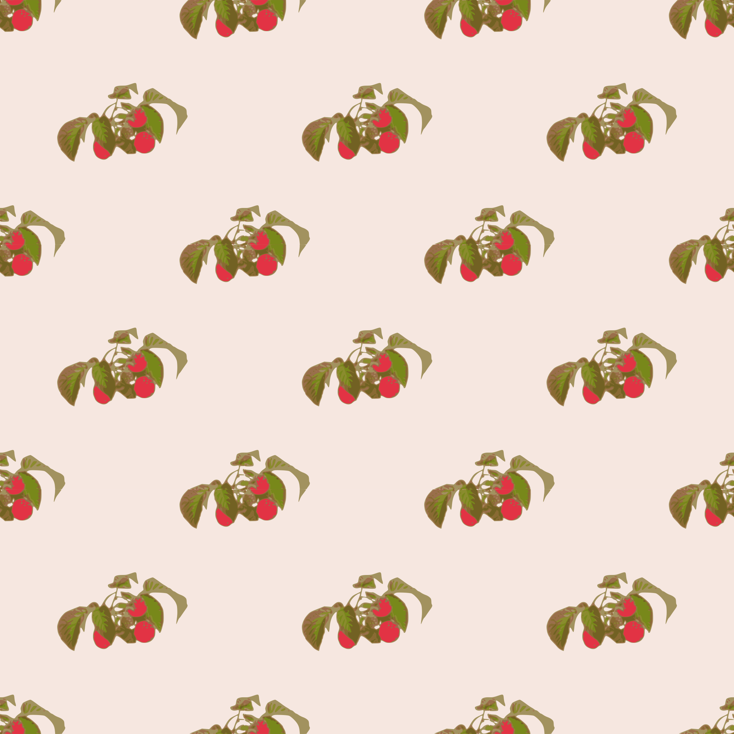Raspberry-seamless pattern by yamachem