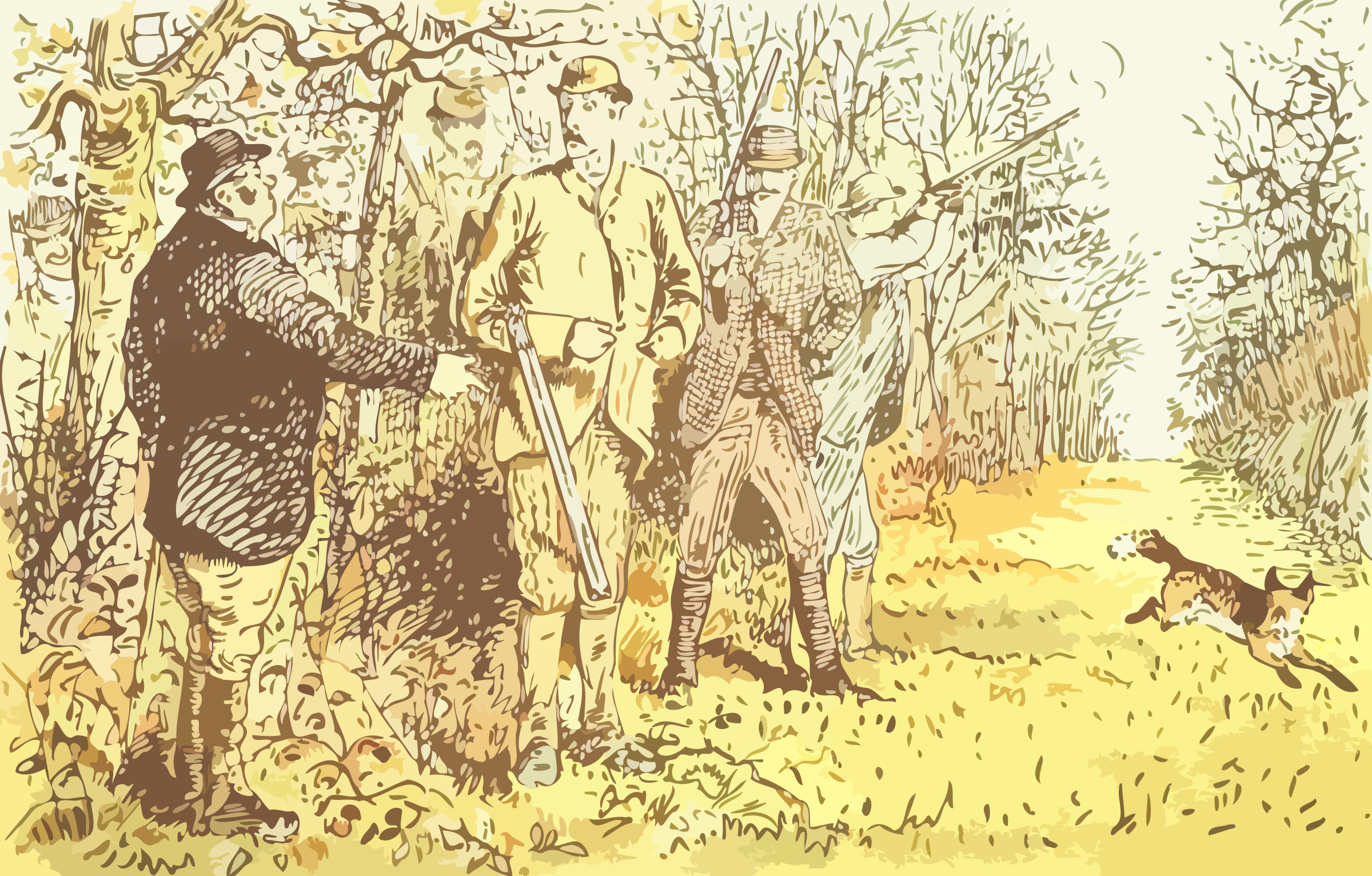 Hunting scene by Firkin