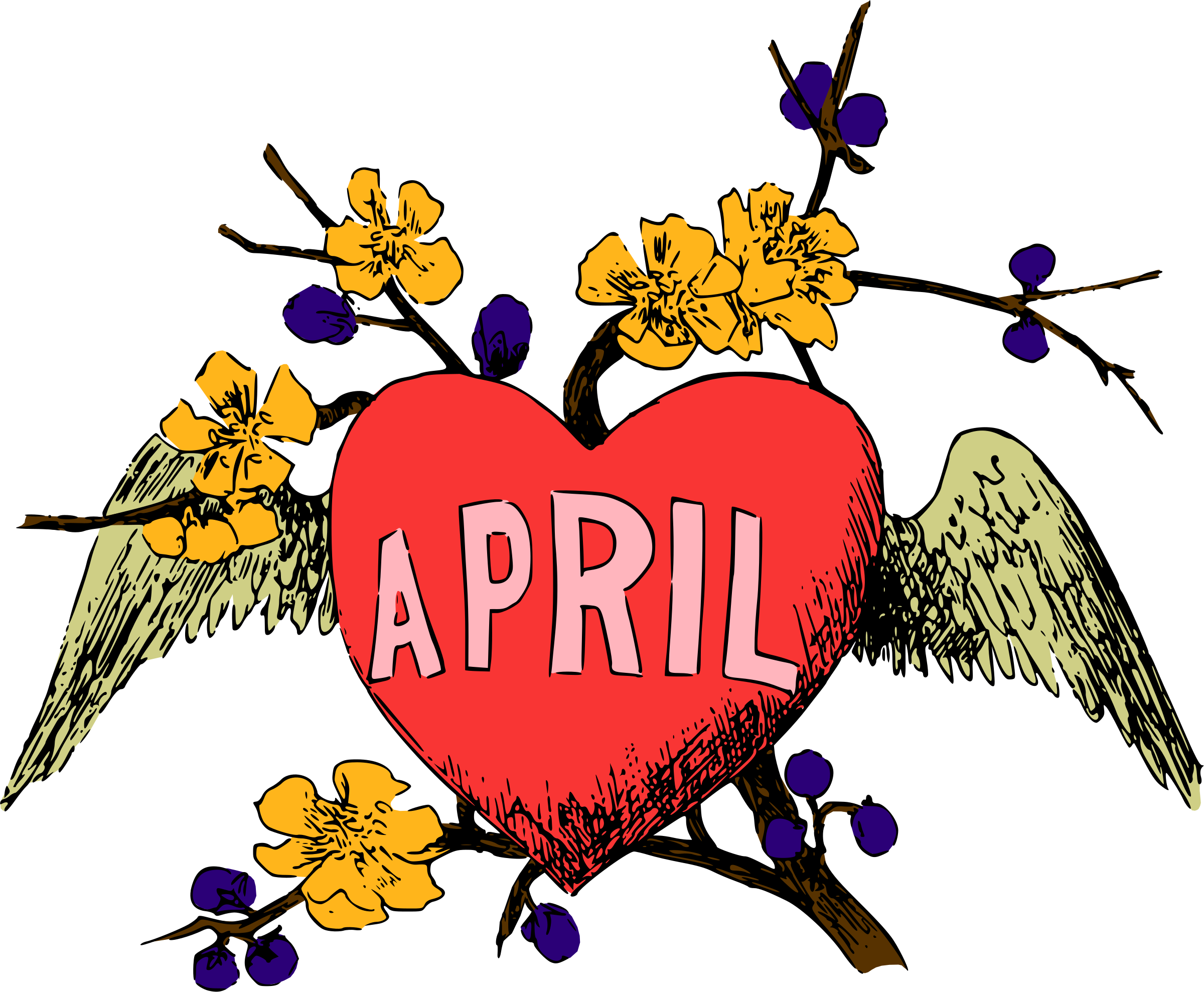 Illustrated months (April, colour) by Firkin